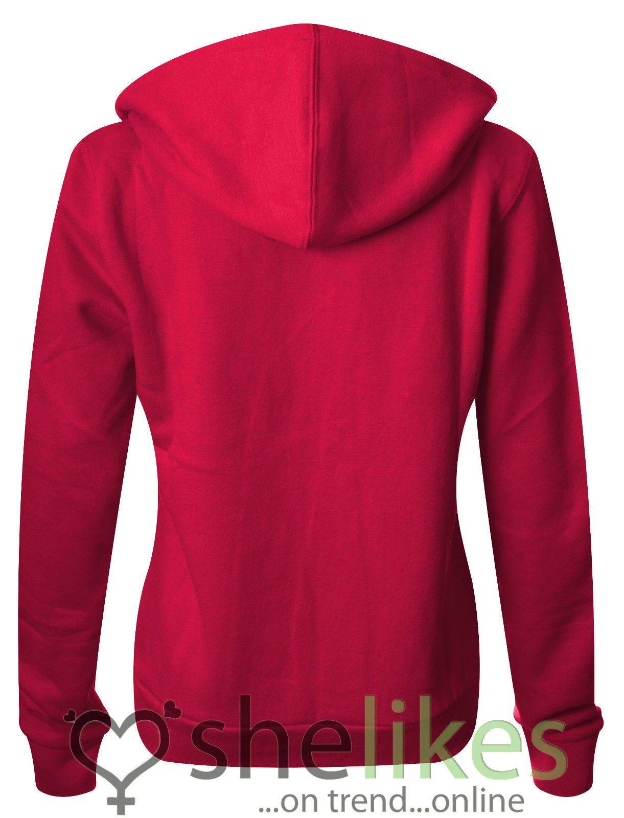 NEW-LADIES-WOMENS-PLUS-SIZE-FRONT-ZIP-HOODED-SWEATSHIRT-PLAIN-HOODIE-JACKET-TOP thumbnail 7