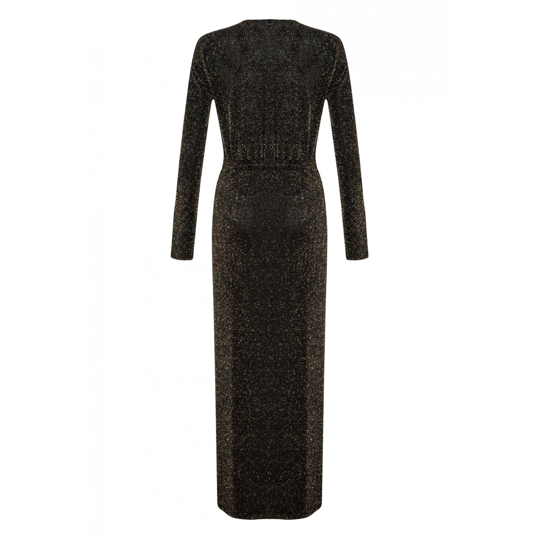 WOMENS SAM FAIERS INSPIRED GLITTER RUCHED V NECK SLIT LONG MAXI BODYCON DRESS