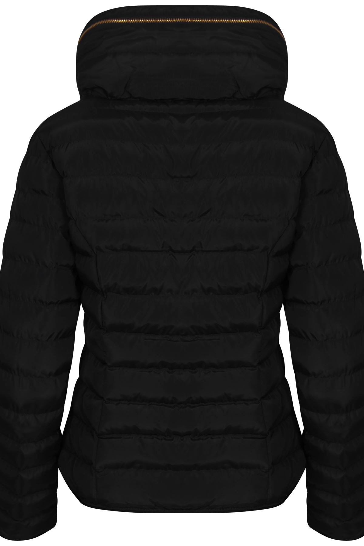 2f0063ee2ba9e Womens Wine With Thick Coat Padded Jacket Warm Zip Quilted Black ...