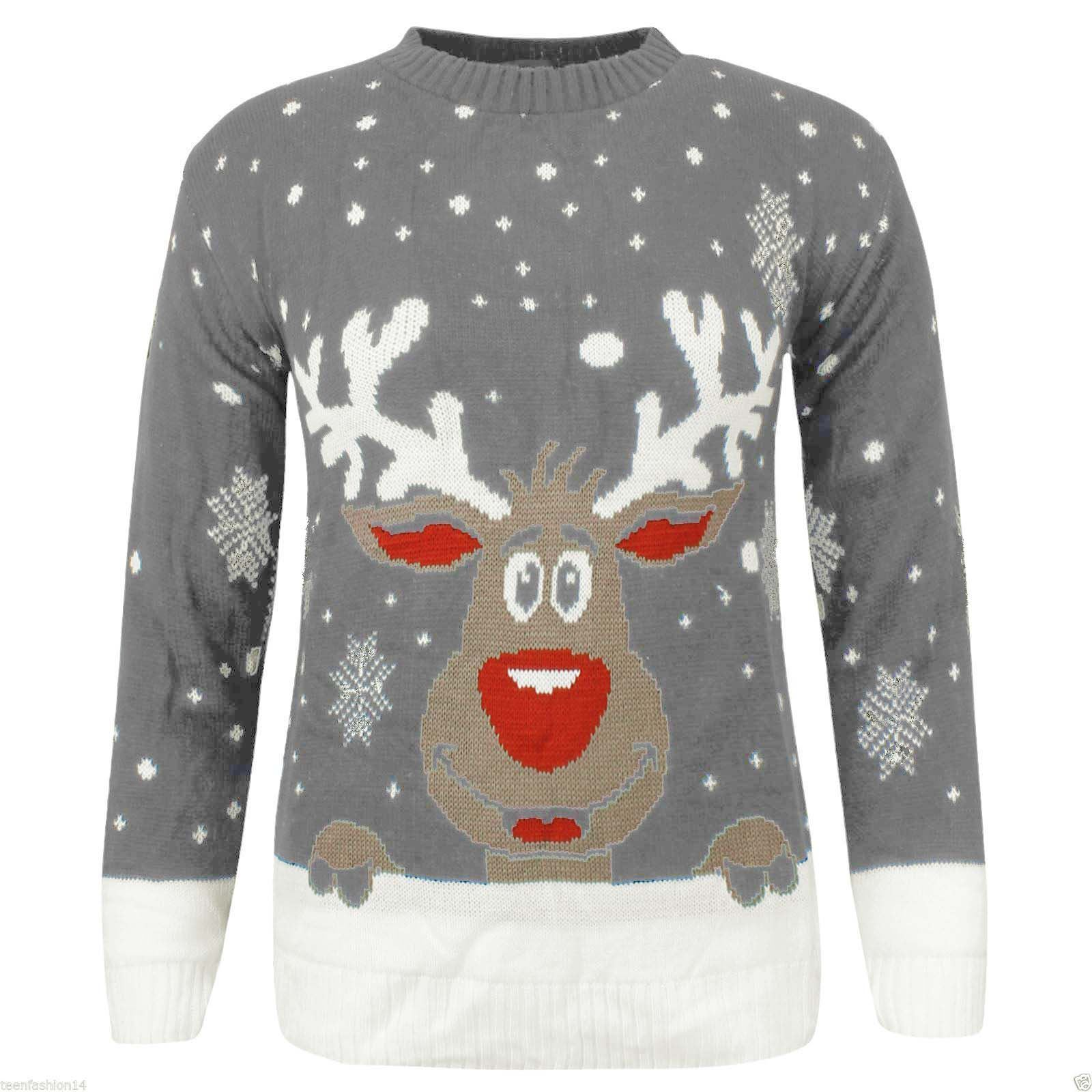 About Reindeer Sweaters The warm lights from the tree, wrapping presents, baking cookies, and singing Christmas carols are just a few of the things you love about the holidays. The Christmas spirit is in the air and reindeer sweaters are exactly what you need for your next holiday party or family get-together.