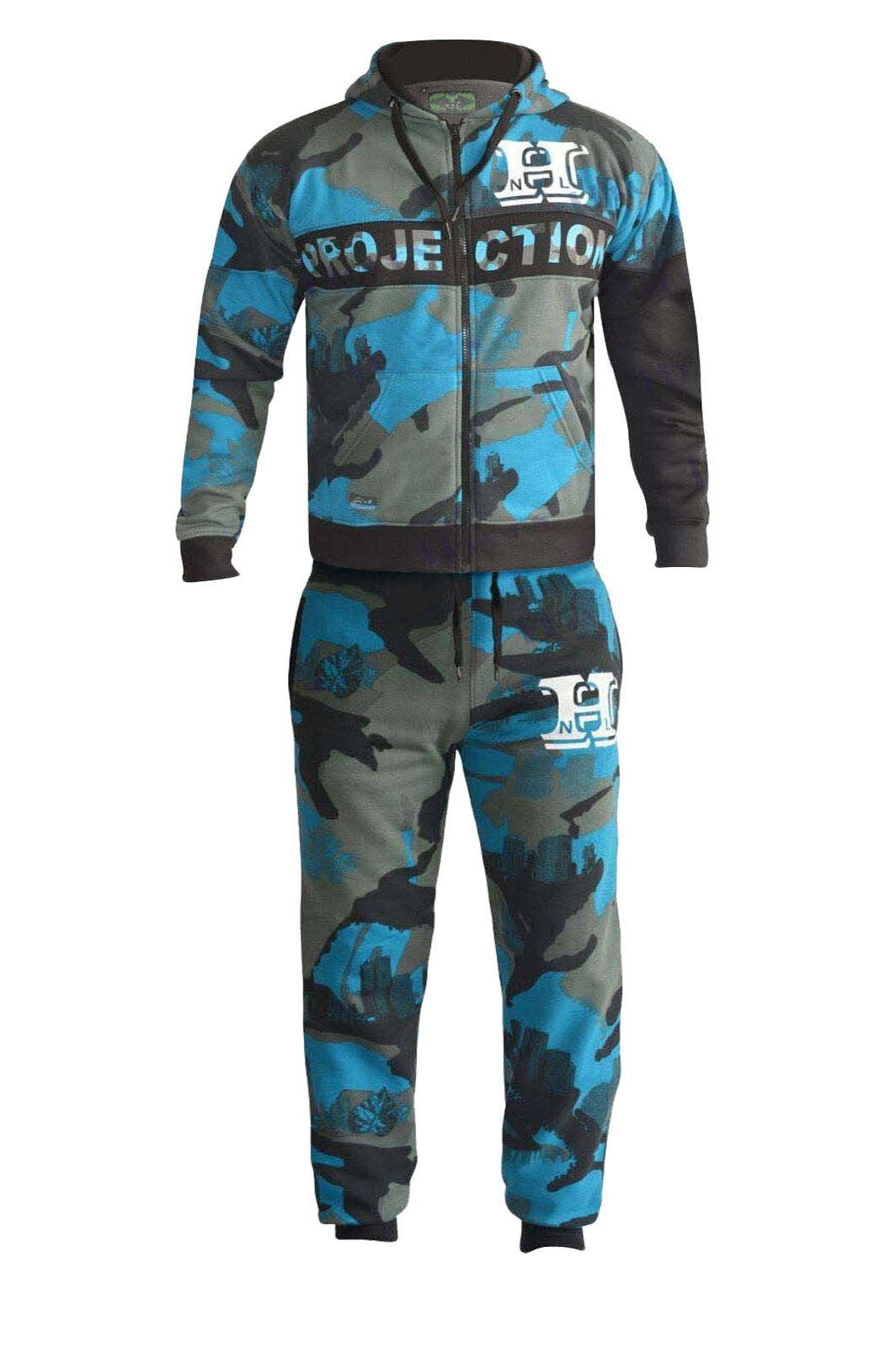 mens boys camo designer zipped top bottoms jogging suit tracksuit s