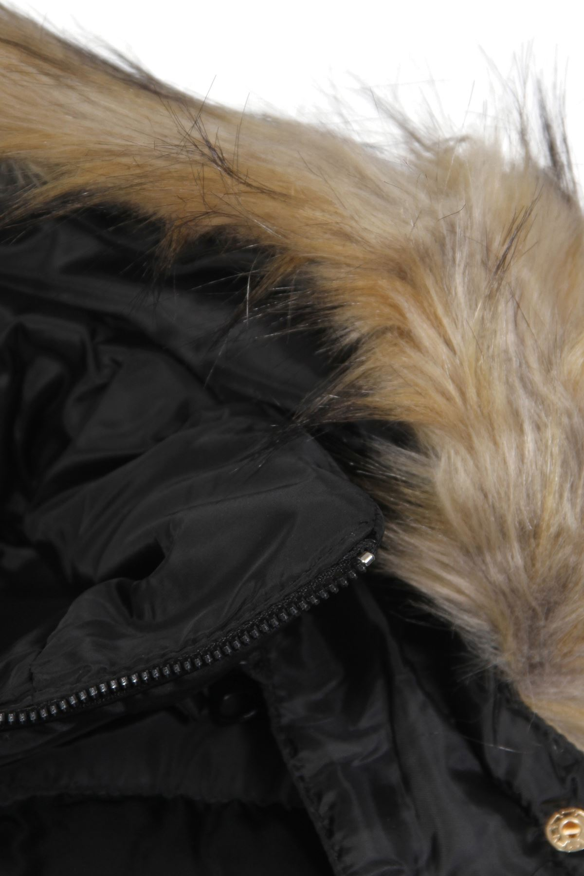 Da Donna in Finta Pelliccia Gilet Imbottito Gilet staccabile con cappuccio foderato in pelliccia sintetica