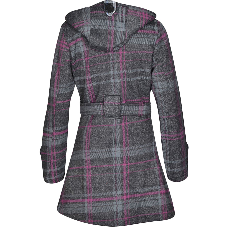 New-Womens-Belted-Button-Fleece-Coat-Ladies-Hooded-Jacket