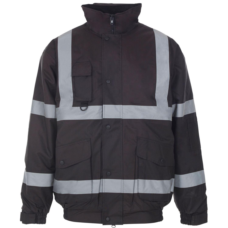 new unisex waterproof bomber jacket hi vis viz workwear. Black Bedroom Furniture Sets. Home Design Ideas