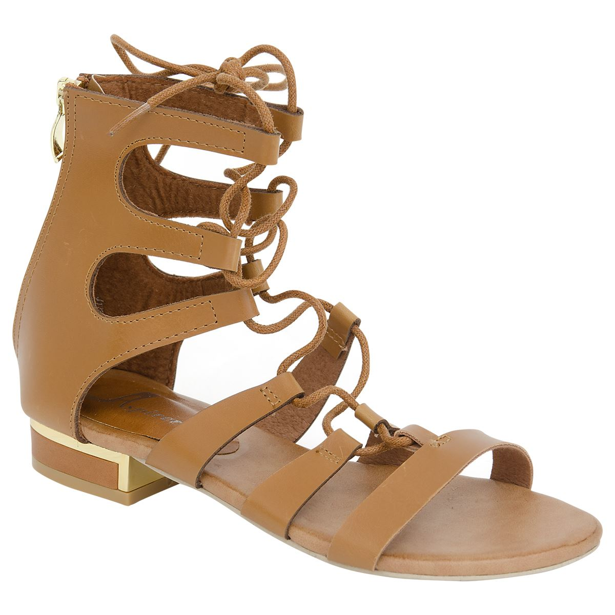 New Womens Ladies Gladiator Flat Leather Look Strappy ...