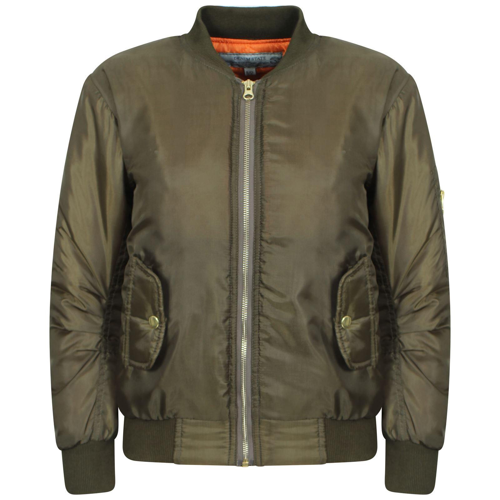 New Boys Girls Kids Winter Jacket Biker Bomber Pilot Warm Padded Air Style Coat