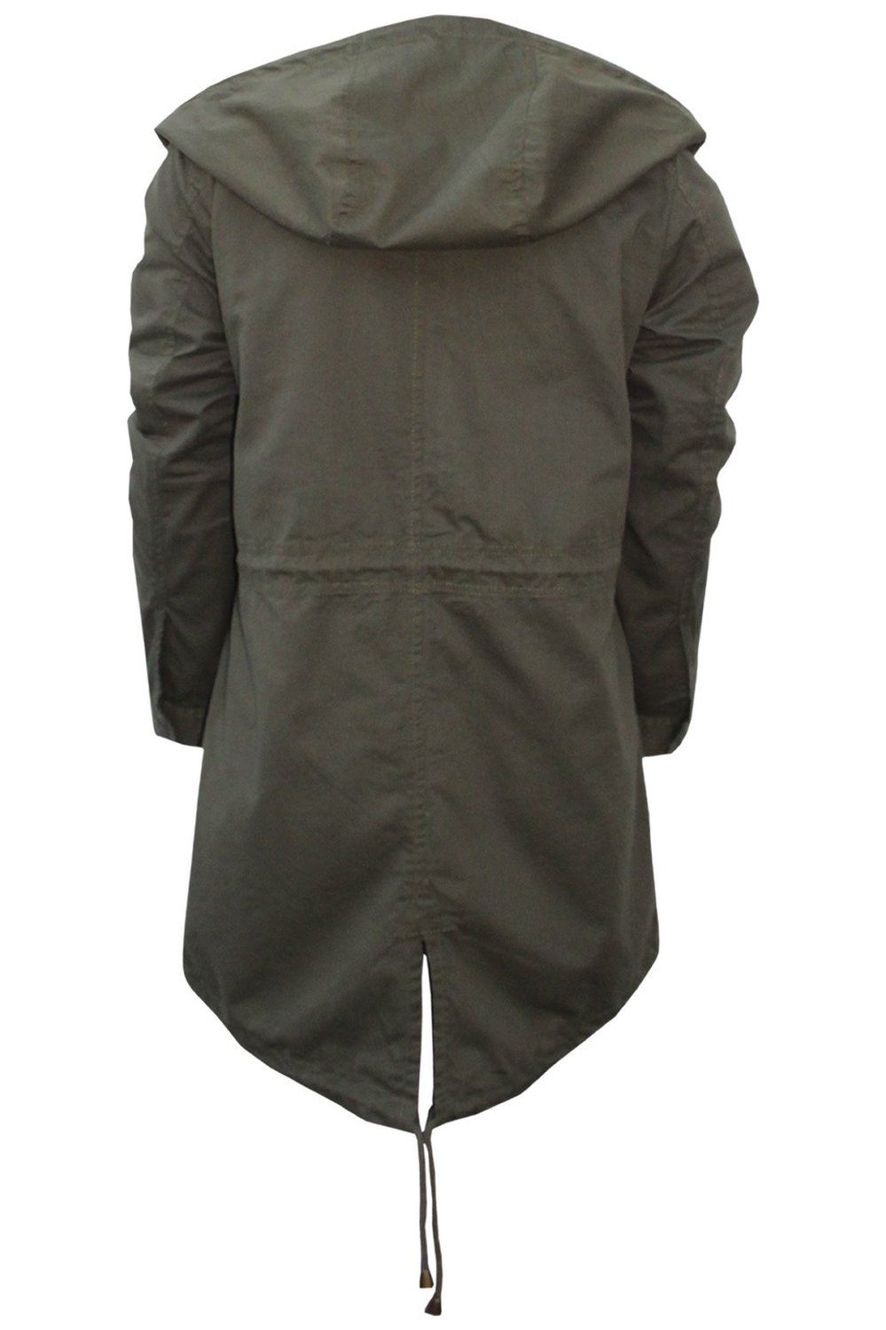 Womens Lightweight Fishtail Summer Hooded Jacket Soft Cotton Long ...