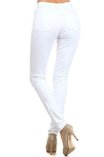Womens High Waist Slim Skinny Ripped Denim Jeans Ladies Trousers 6-14