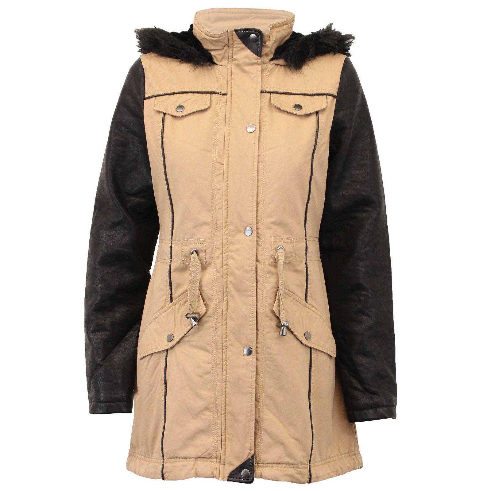 fausse veste femmes capuche épais Manteau fourrure à de pour 18EqUxw