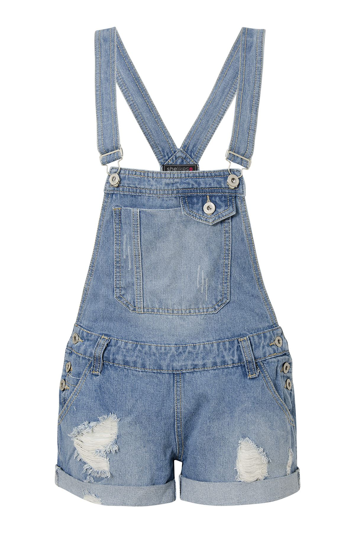 New Womens Ladies Denim Dungarees Ripped Multi Coloured Skirt Casual Sizes 6-14 | eBay