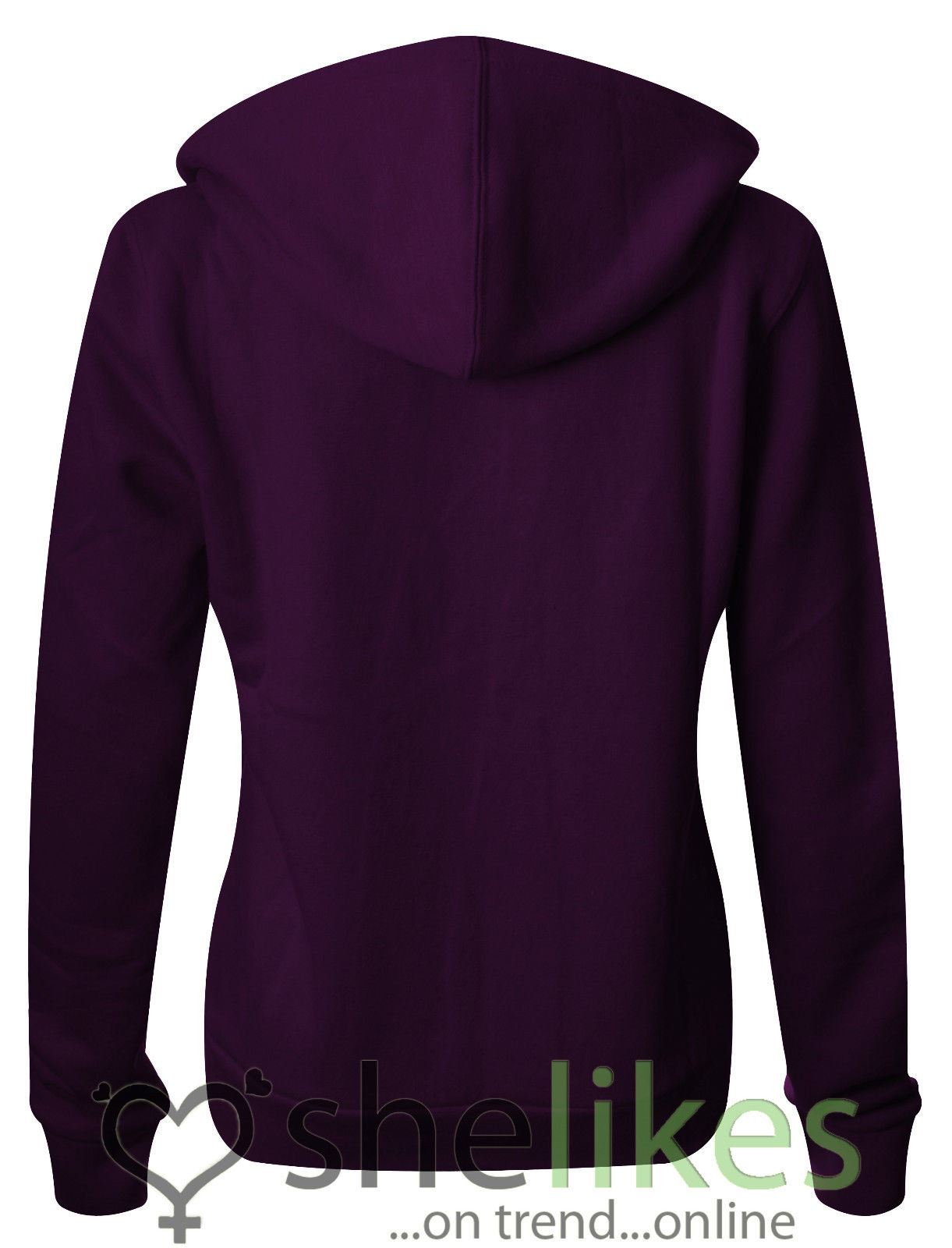 NEW-LADIES-WOMENS-PLUS-SIZE-FRONT-ZIP-HOODED-SWEATSHIRT-PLAIN-HOODIE-JACKET-TOP thumbnail 11