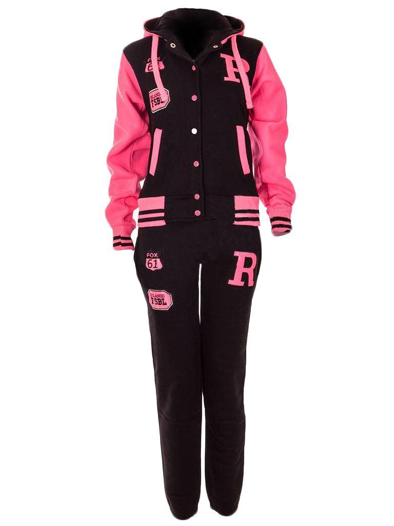 Womens Jogging Baseball Varsity College Plus Size ...