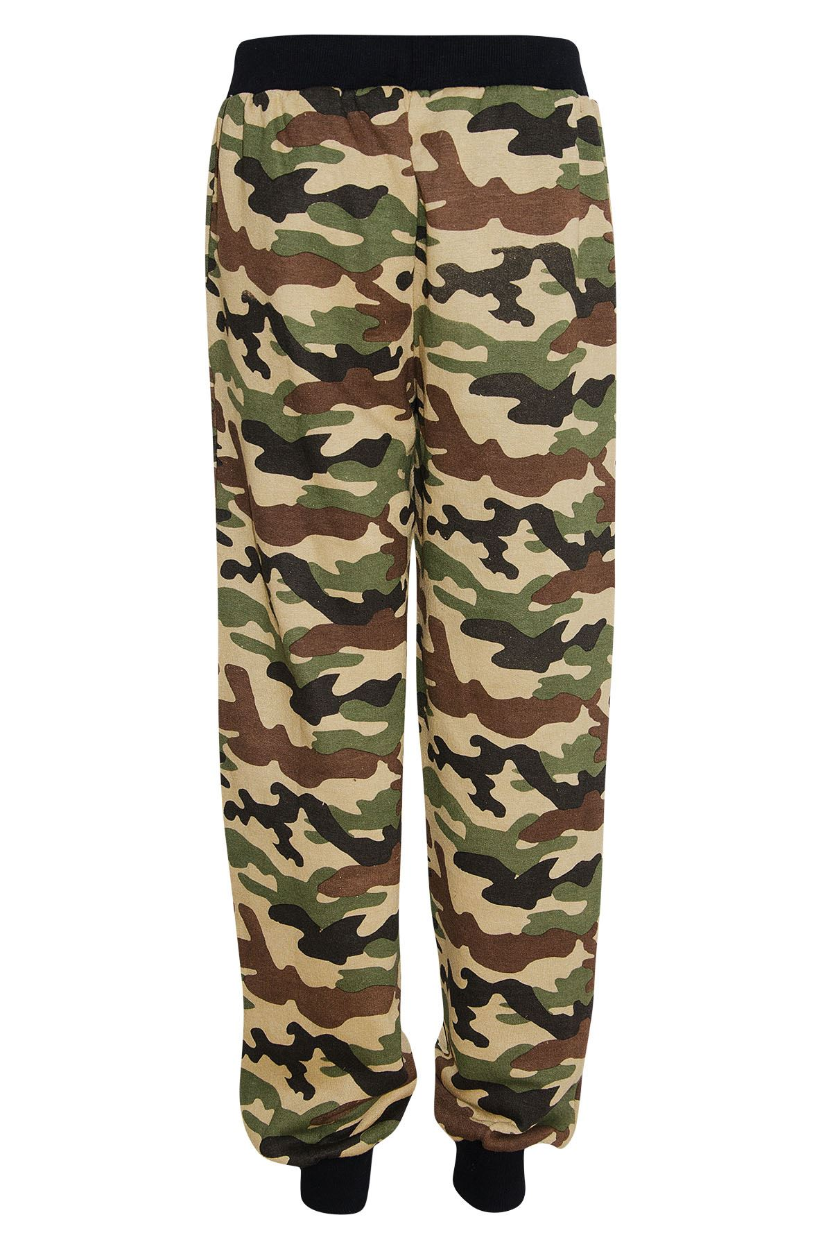 Creative Camouflage Cargo Pants Women Military Fashion Casual Sportswear Loose