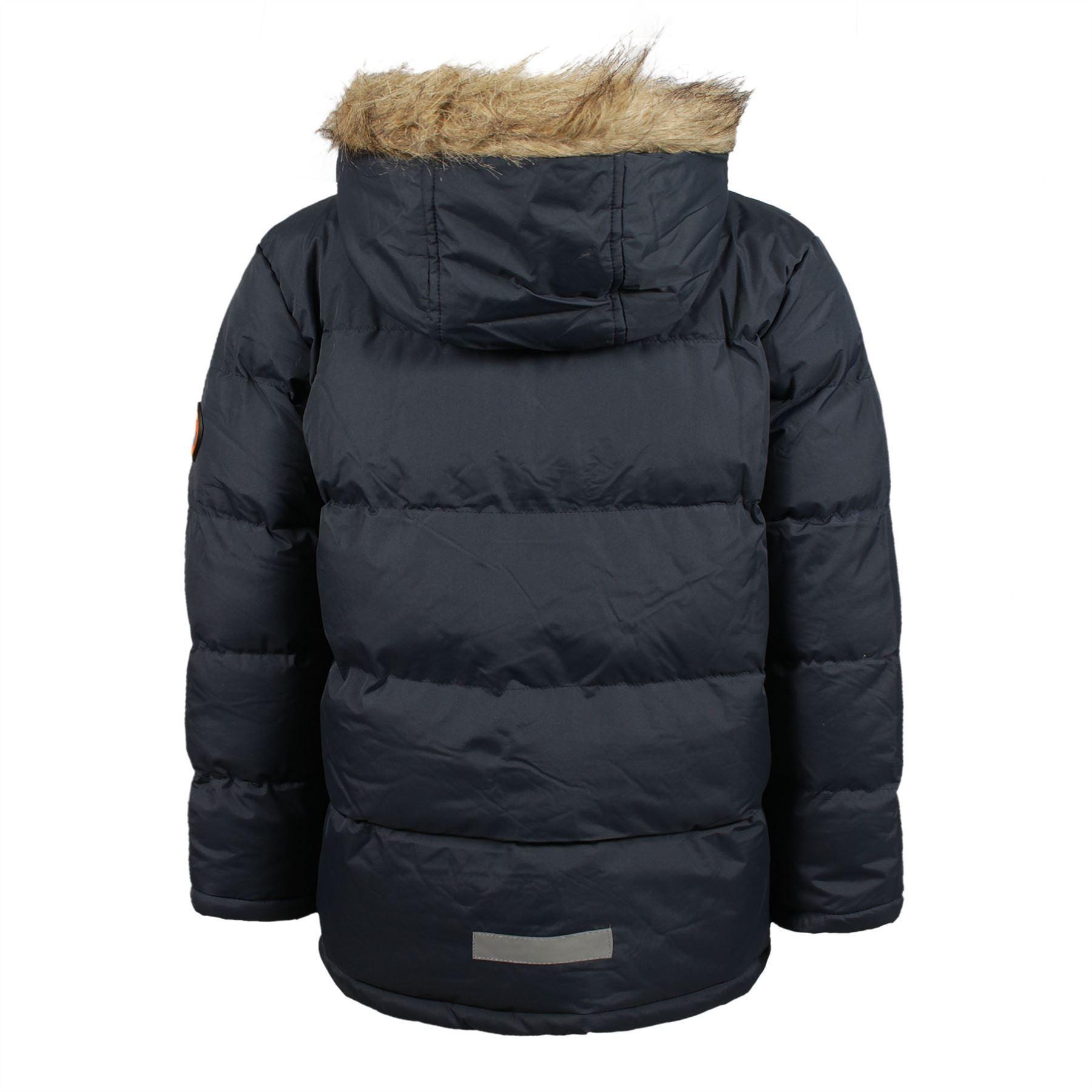 Boys Everest Parka Zip Up Plain Puffer Outdoor Jacket ...