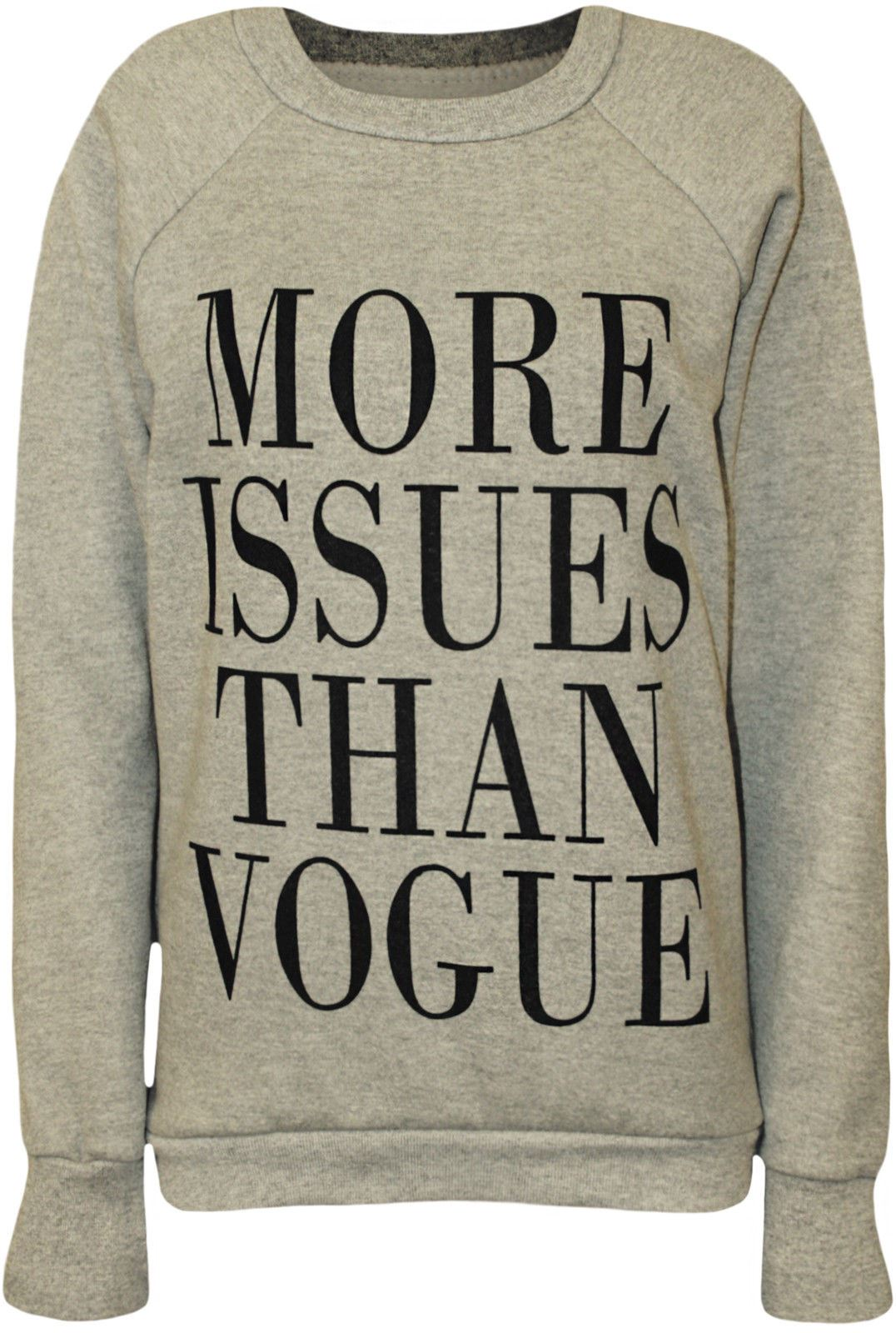 Womens-Ladies-More-Issues-Than-Vogue-Print-Jumper-Pullover-Sweatshirt-Top