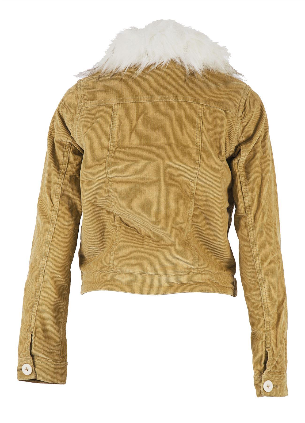 velours classique en matelassée coton en côtelé Veste avec femmes pour col 5B0Tx