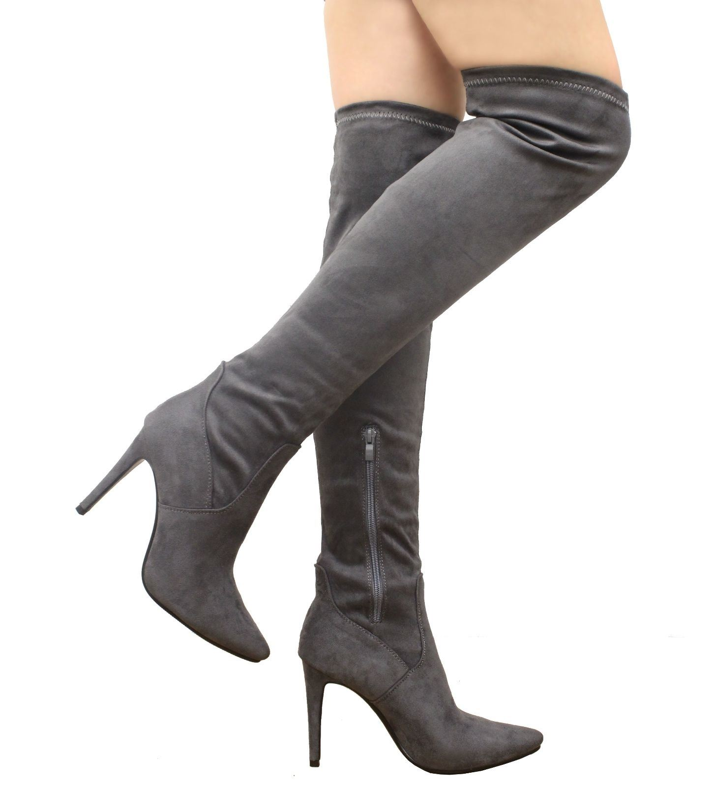 new s the knee thigh high stiletto heel faux
