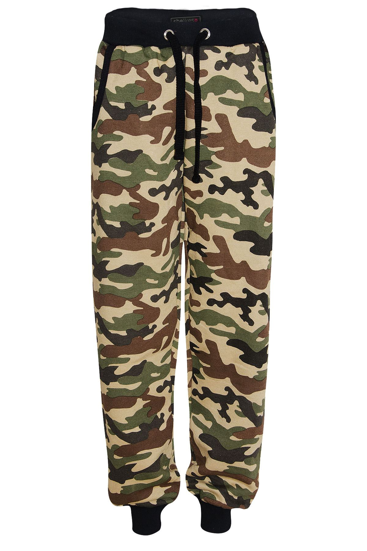 Brilliant STYLISH MONARDA WOMEN CAMOUFLAGE CAMO JOGGER PANTS JUNIOR SIZE S  3XL