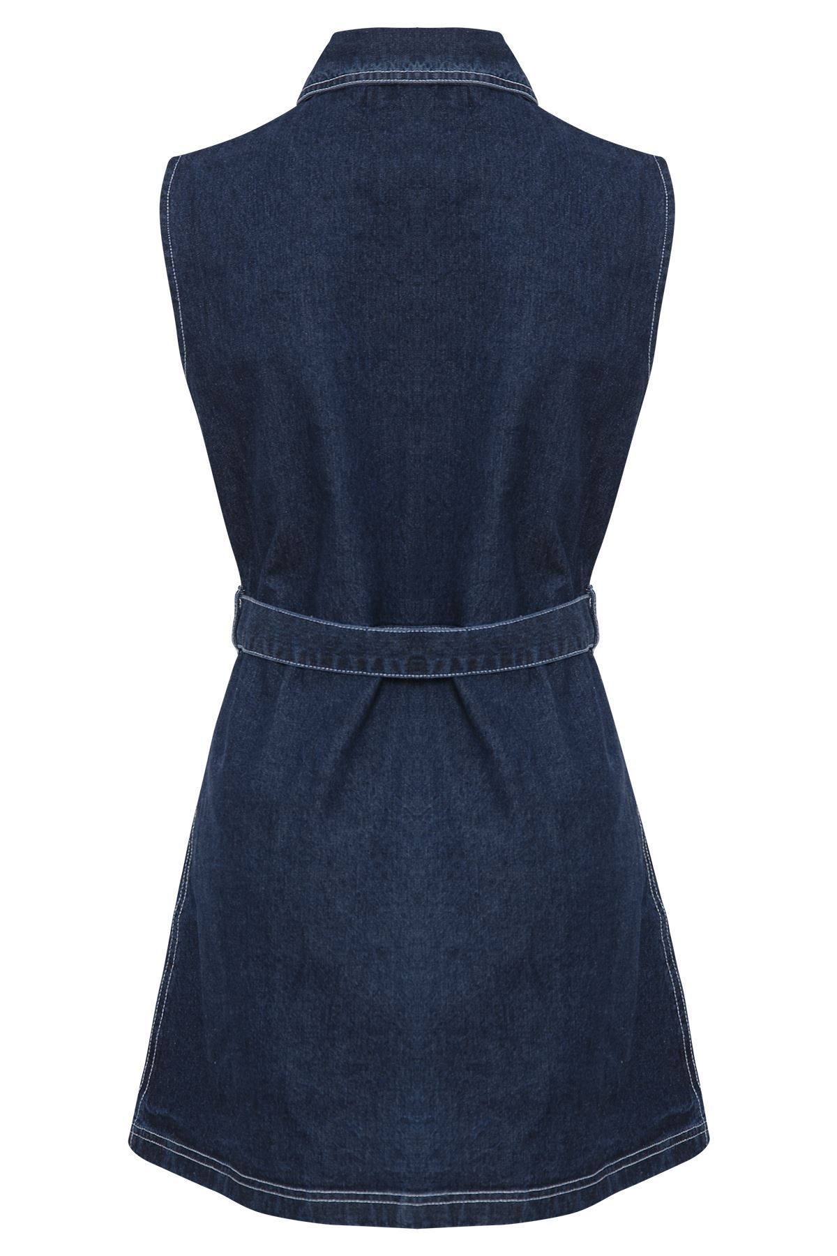 Unique Womens Sleeveless Denim Dress  Bella Forte Glass Studio
