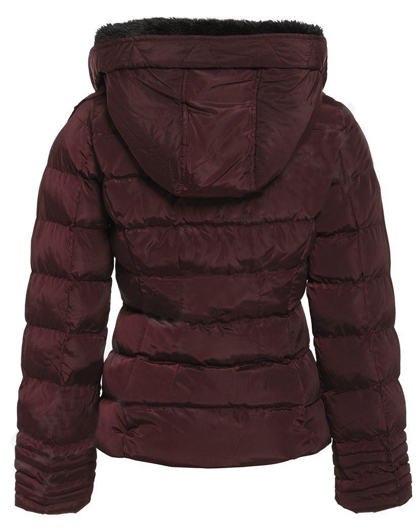 Donna IMBOTTITO PELLICCIA SINT Cintura Invernale Spessa trapuntato a prova di doccia calda giacca con cappuccio