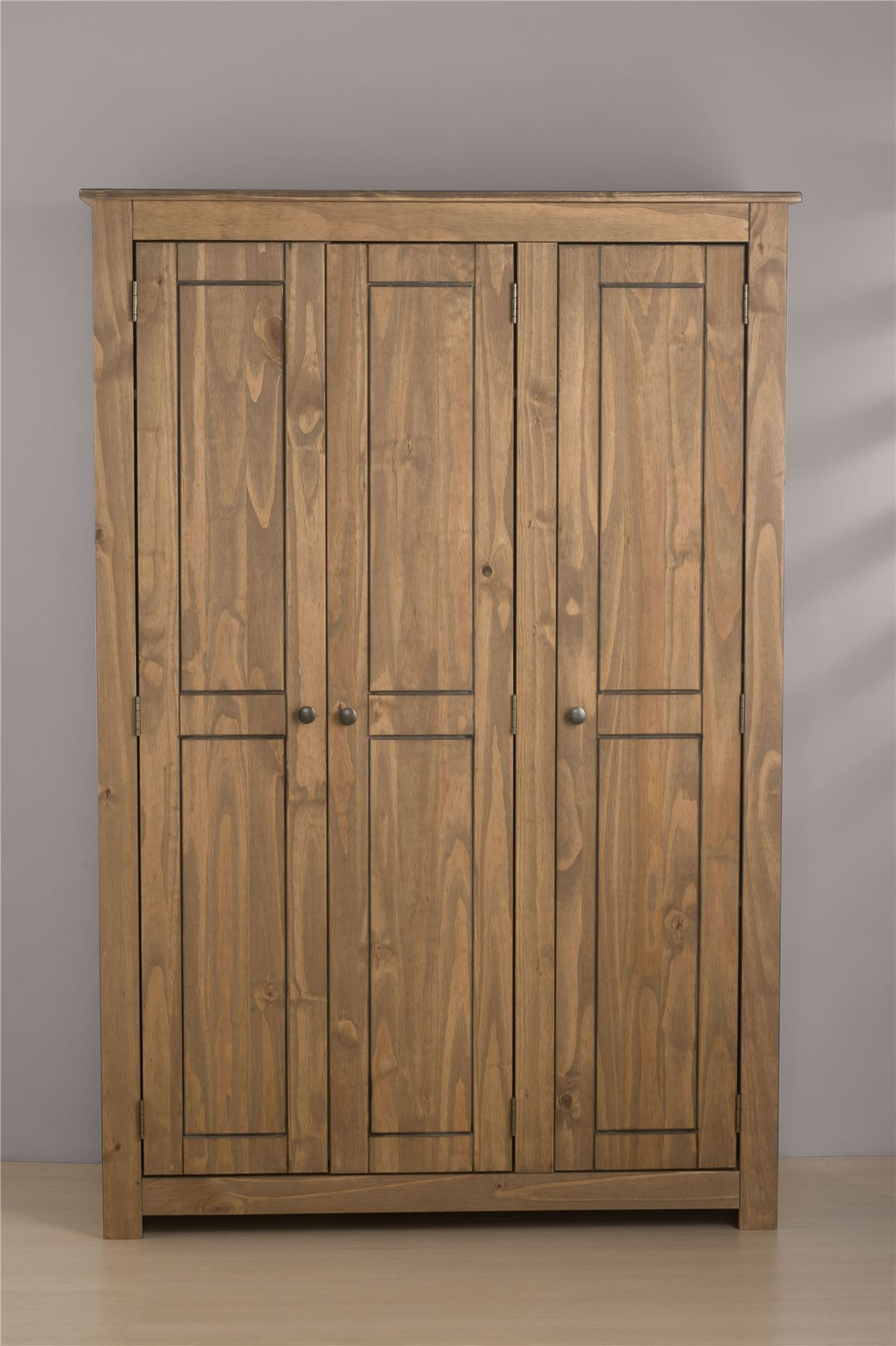 Mexico 3 Door Wardrobe Robe Corona Mexican Pine Solid Wood Furniture Waxed Picclick Uk
