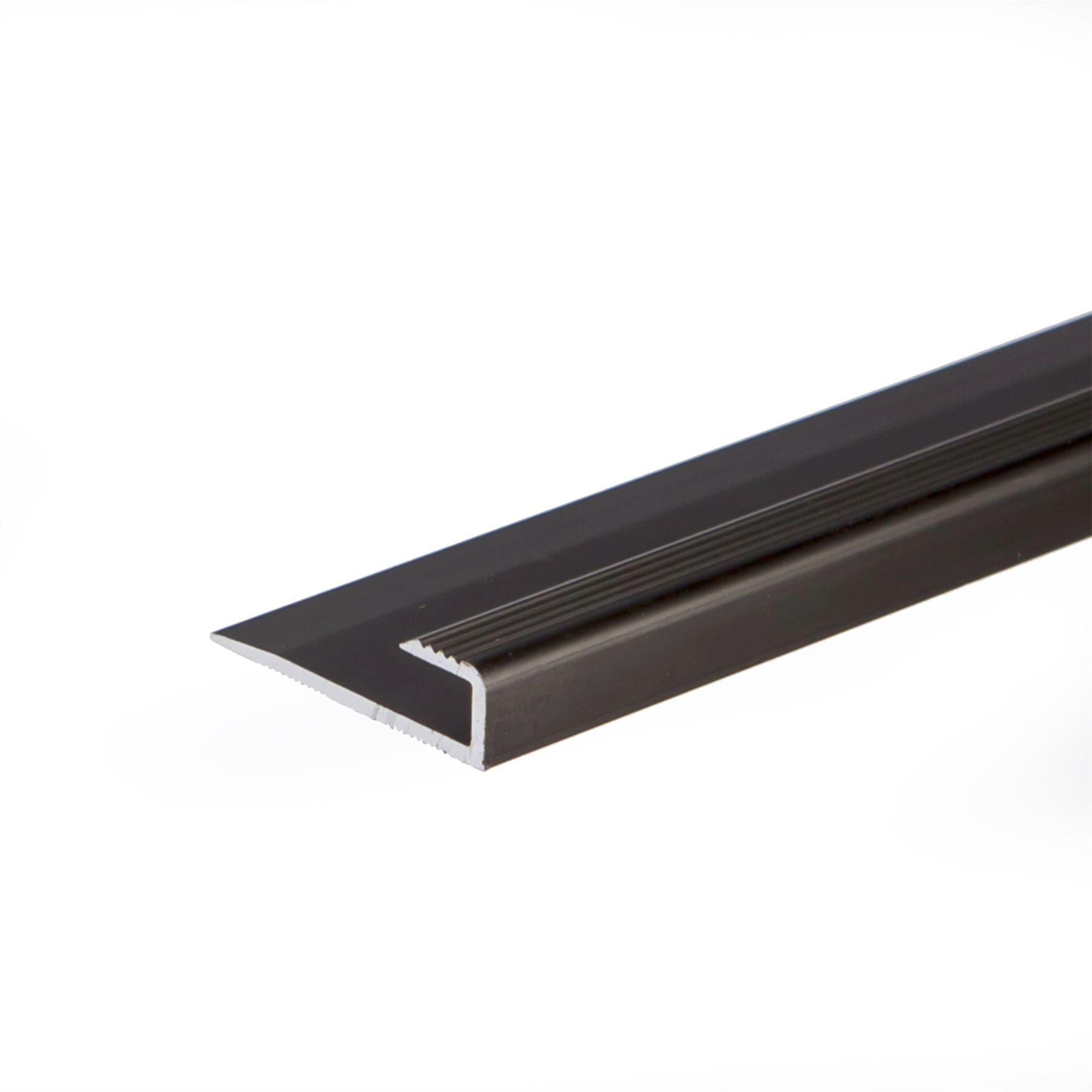 Anodised aluminium carpet edge ending cover strip floor for Floor edge trim
