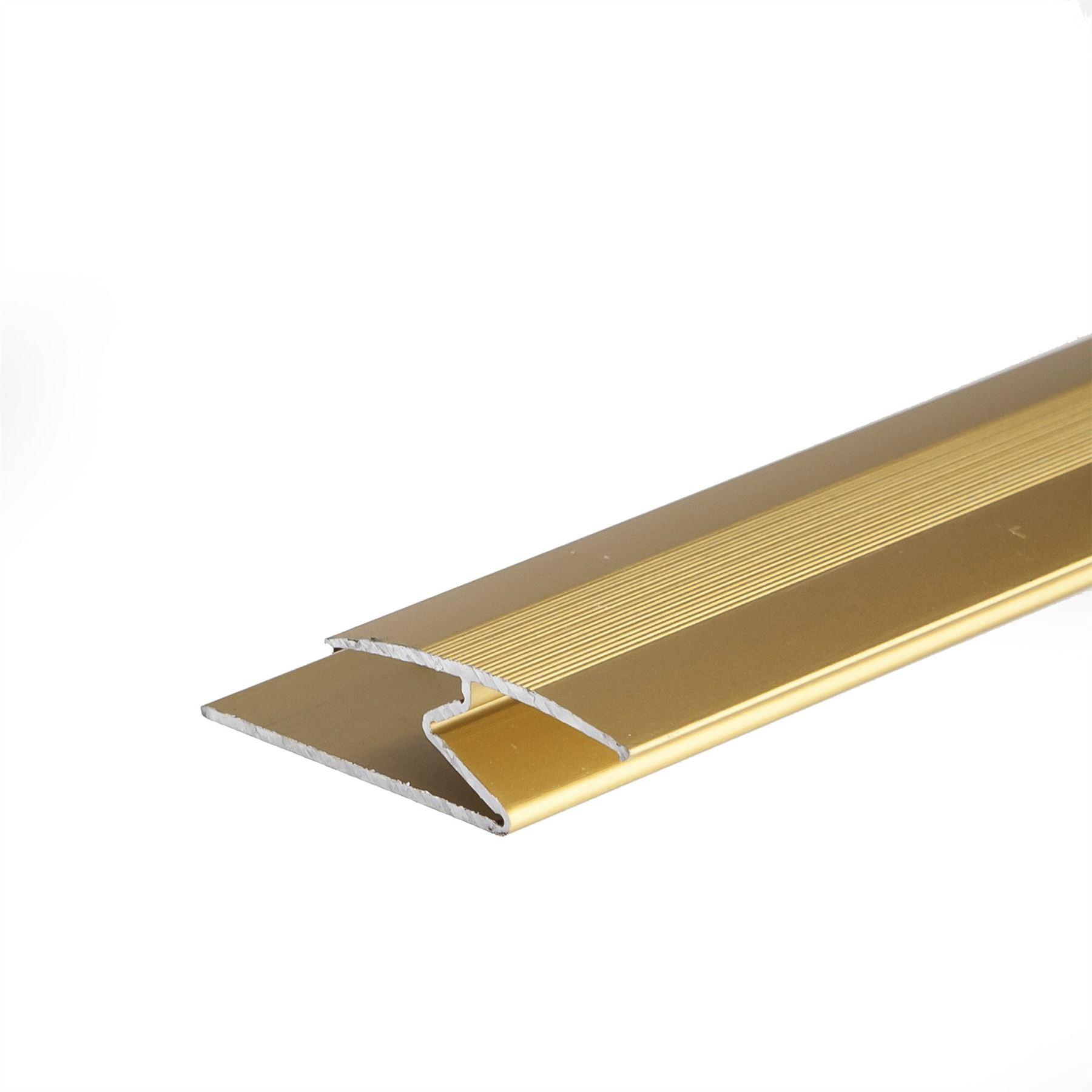 Anodised aluminium z edge carpet profile door floor bar for Floor edge trim