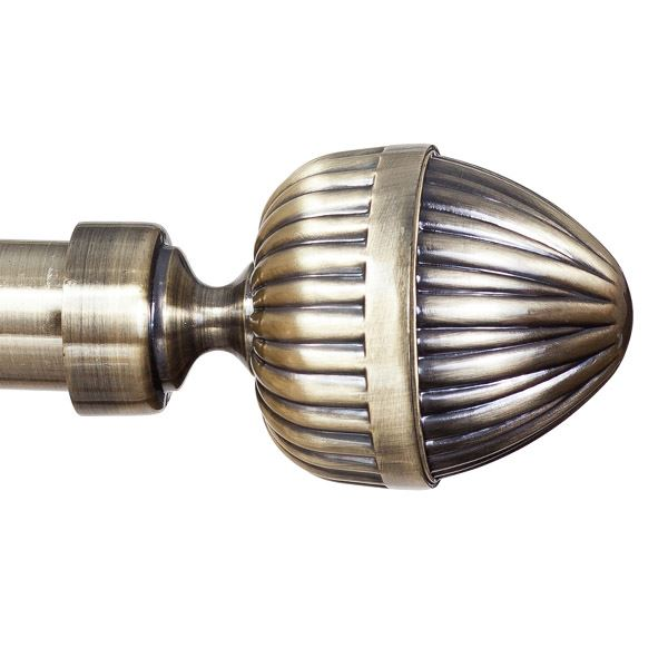 Metal Curtain Pole Finials Ends For 25mm Pole Antique