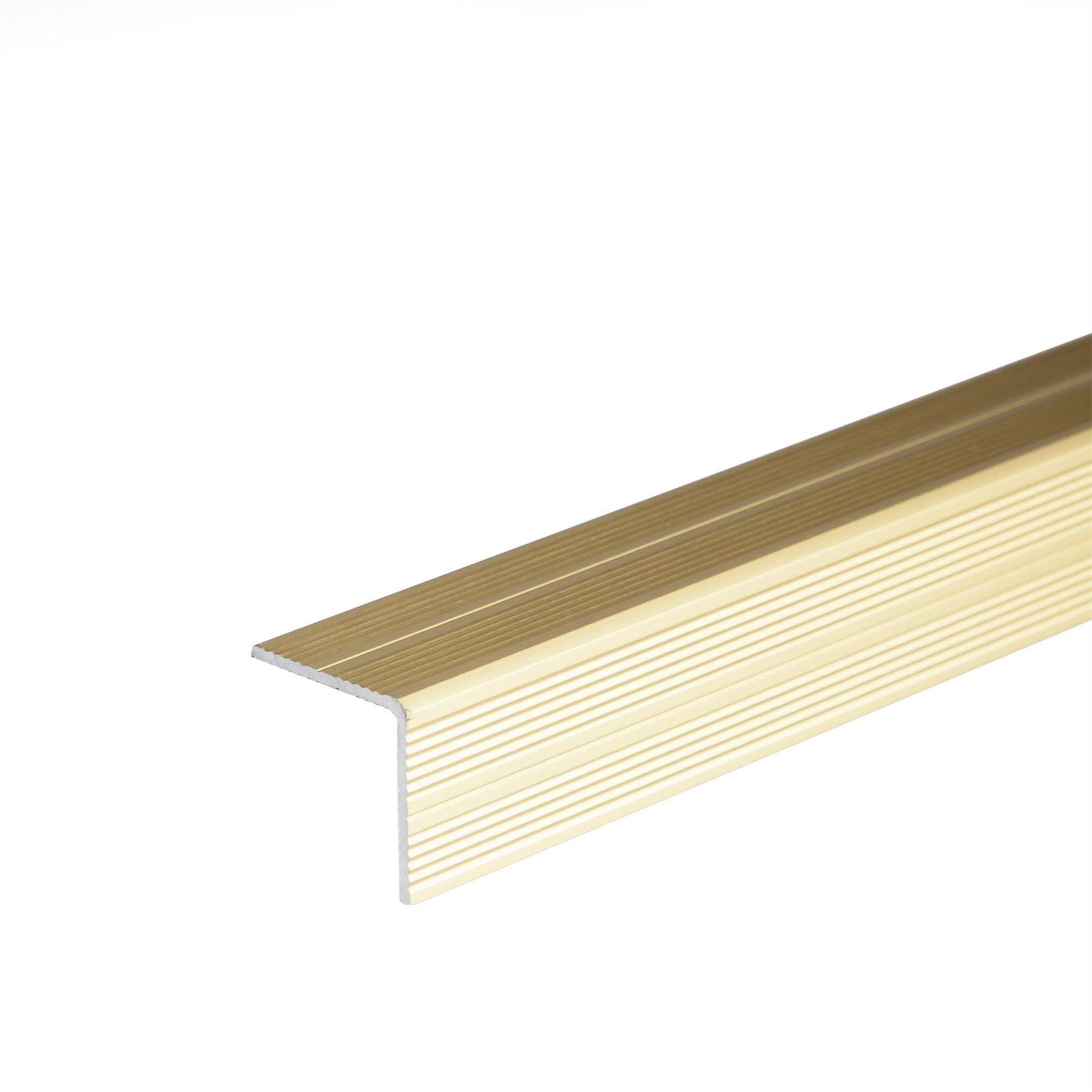 Selfadhesive Anodised Aluminium Anti Non Slip Stair Edge