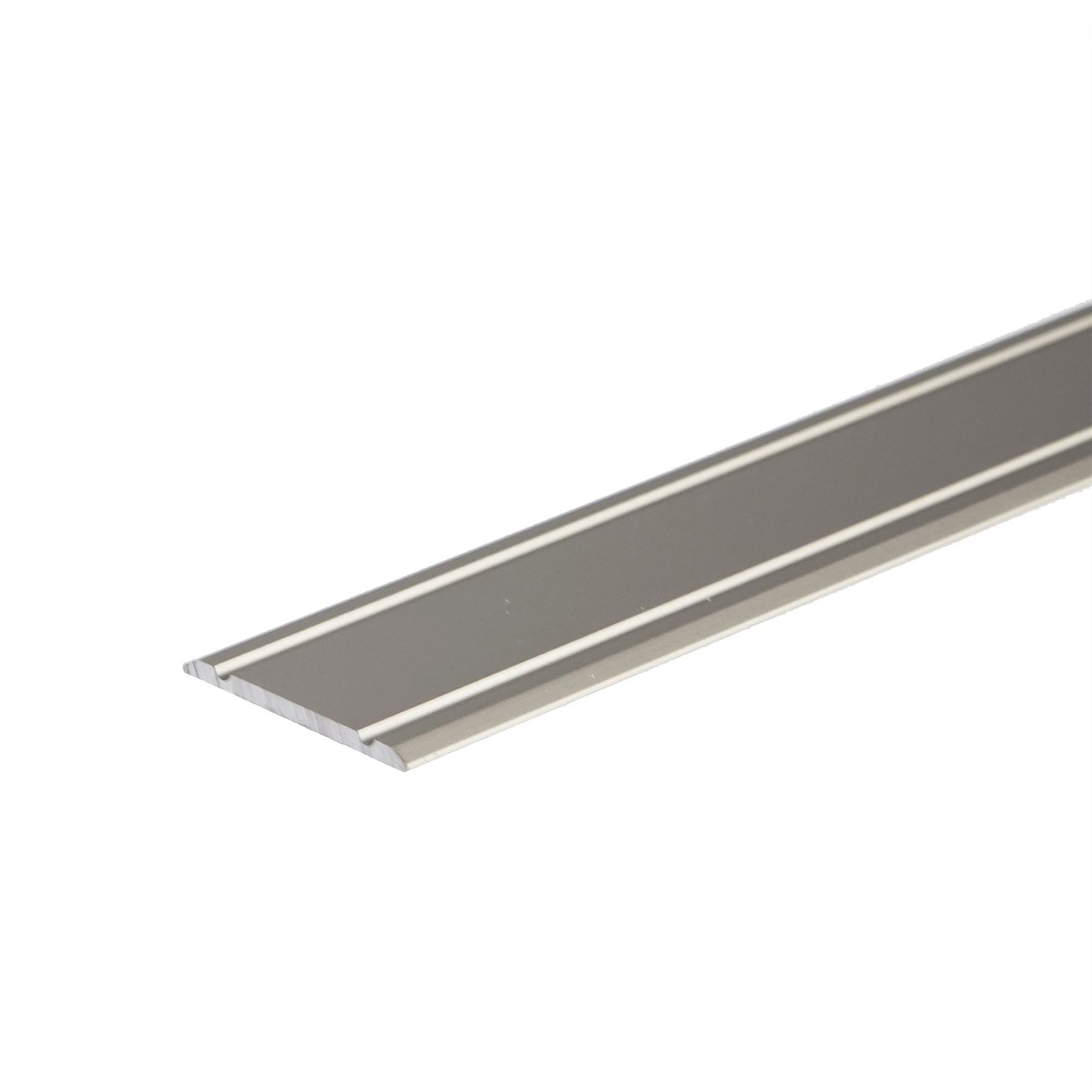 Flat anodised aluminium door floor edging bar strip trim for Door edge trim