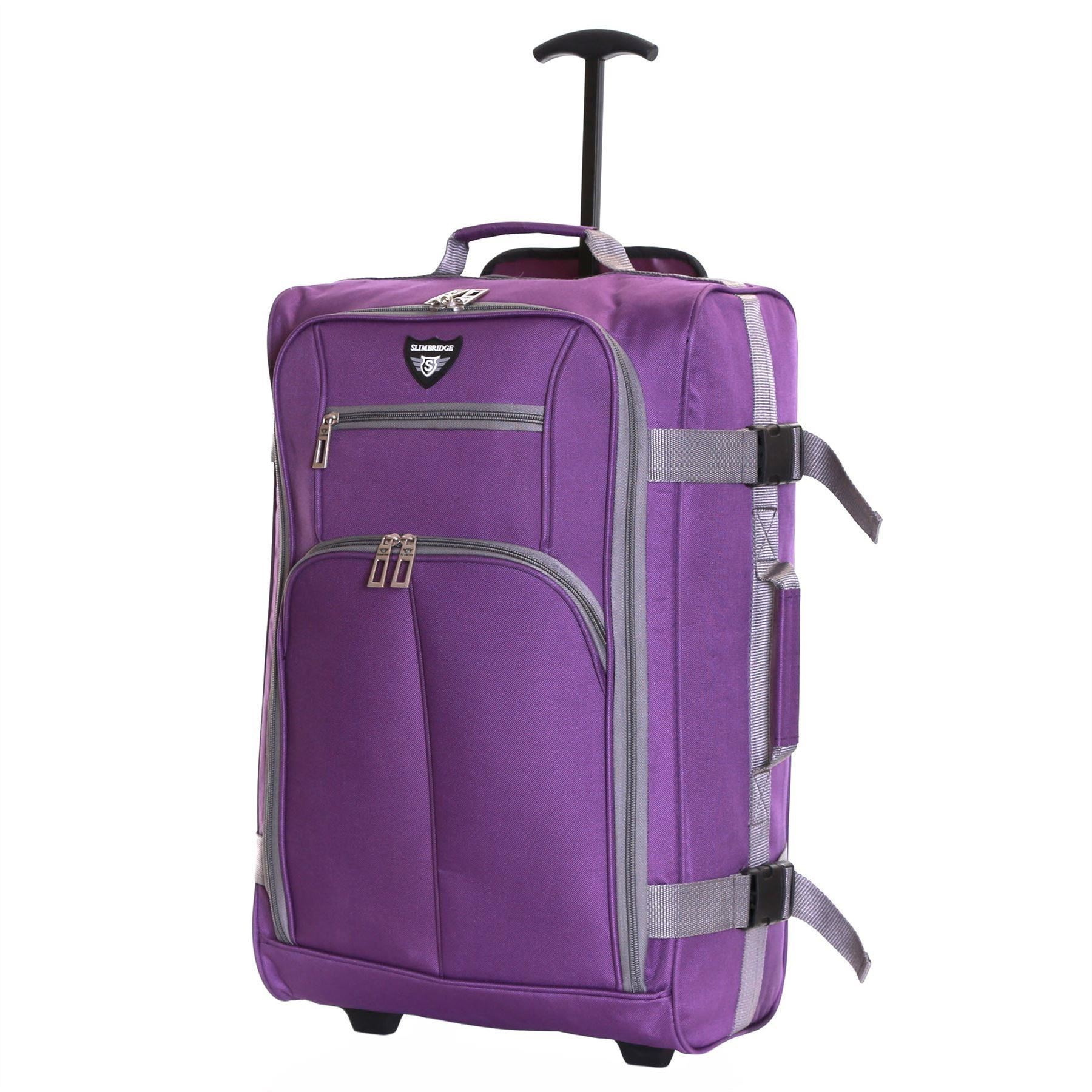 Ryanair-Easyjet-Set-of-2-Cabin-Approved-Hand-Trolley-Suitcases-Luggage-Case-Bags thumbnail 26