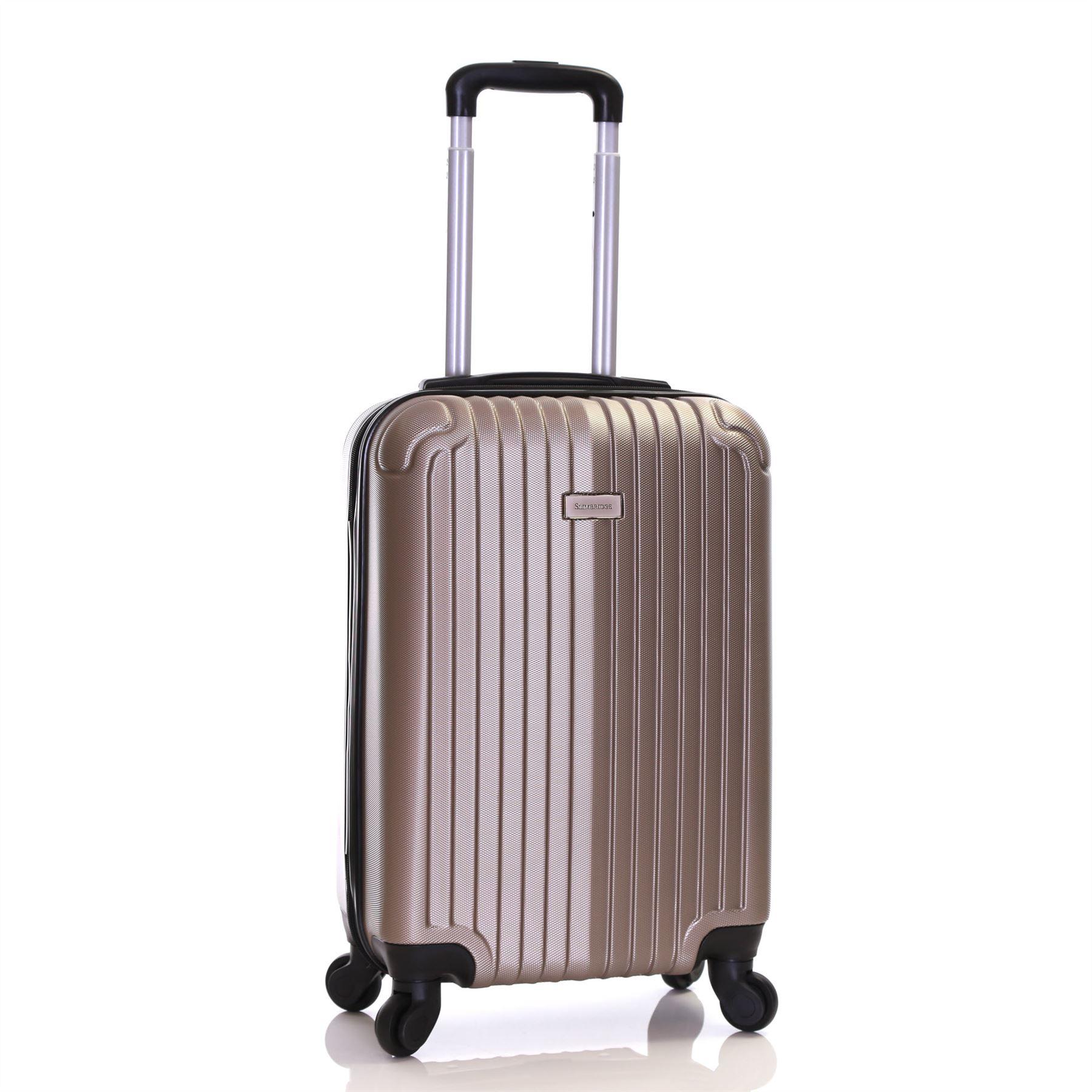 Ryanair EasyJet 55 cm Hard Cabin Approved Spinner Trolley Luggage ...