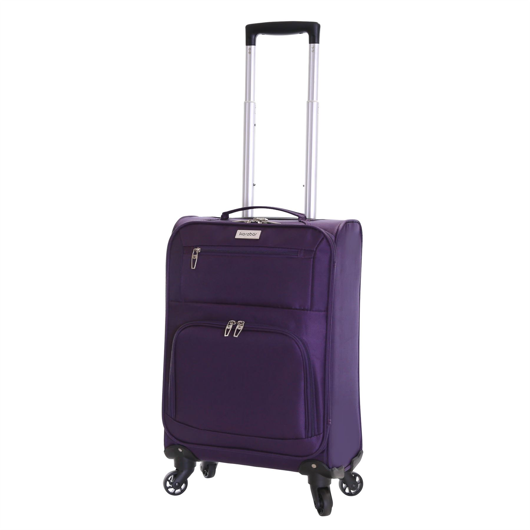 Lightweight 4 Wheeled Extra Large Cabin Trolley Luggage Suitcase ...