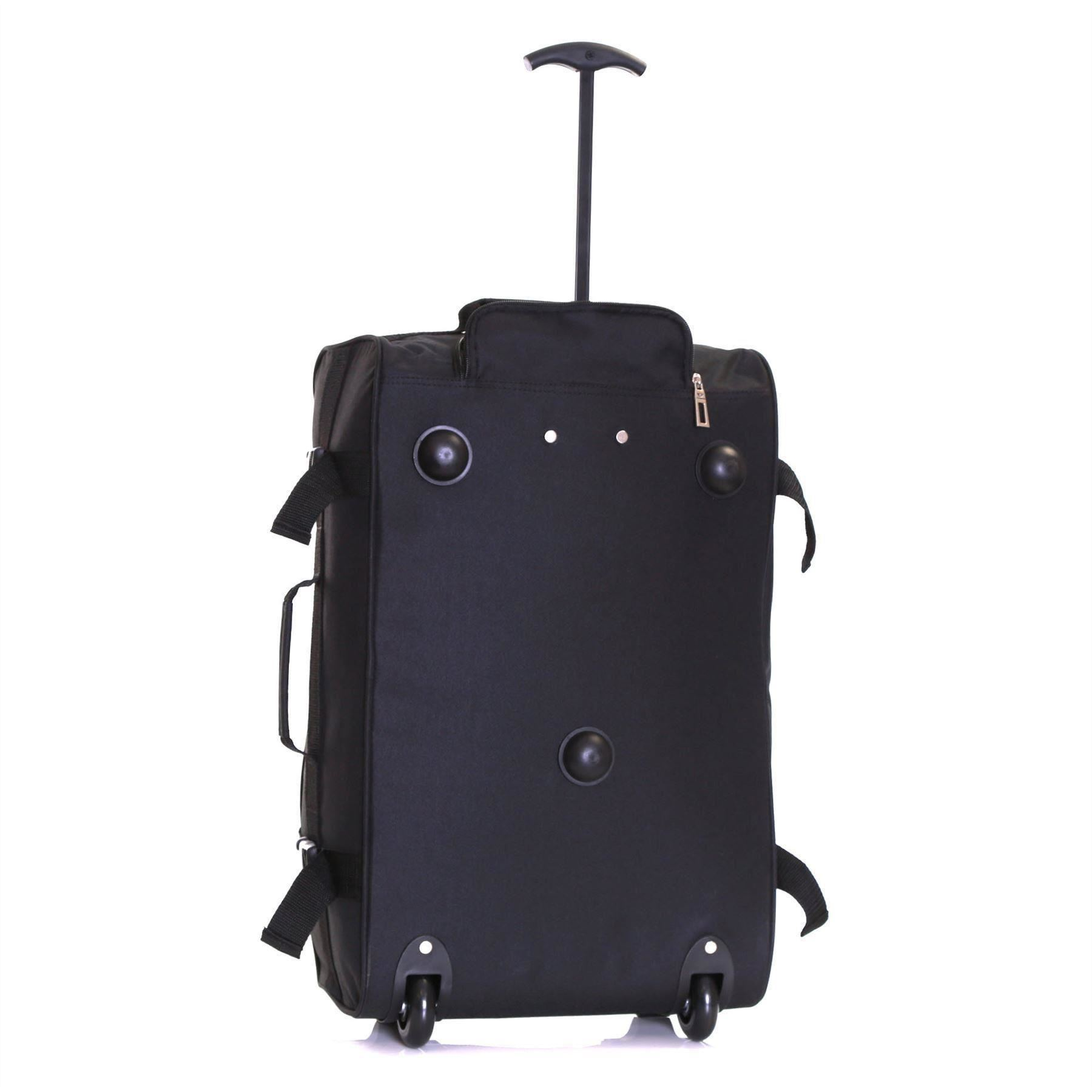 Ryanair-Easyjet-Set-of-2-Cabin-Approved-Hand-Trolley-Suitcases-Luggage-Case-Bags thumbnail 7