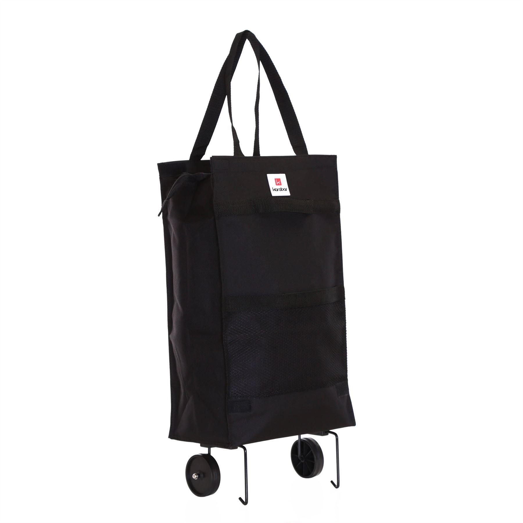 karabar foldable lightweight wheeled shopping shopper trolley luggage bag case ebay. Black Bedroom Furniture Sets. Home Design Ideas