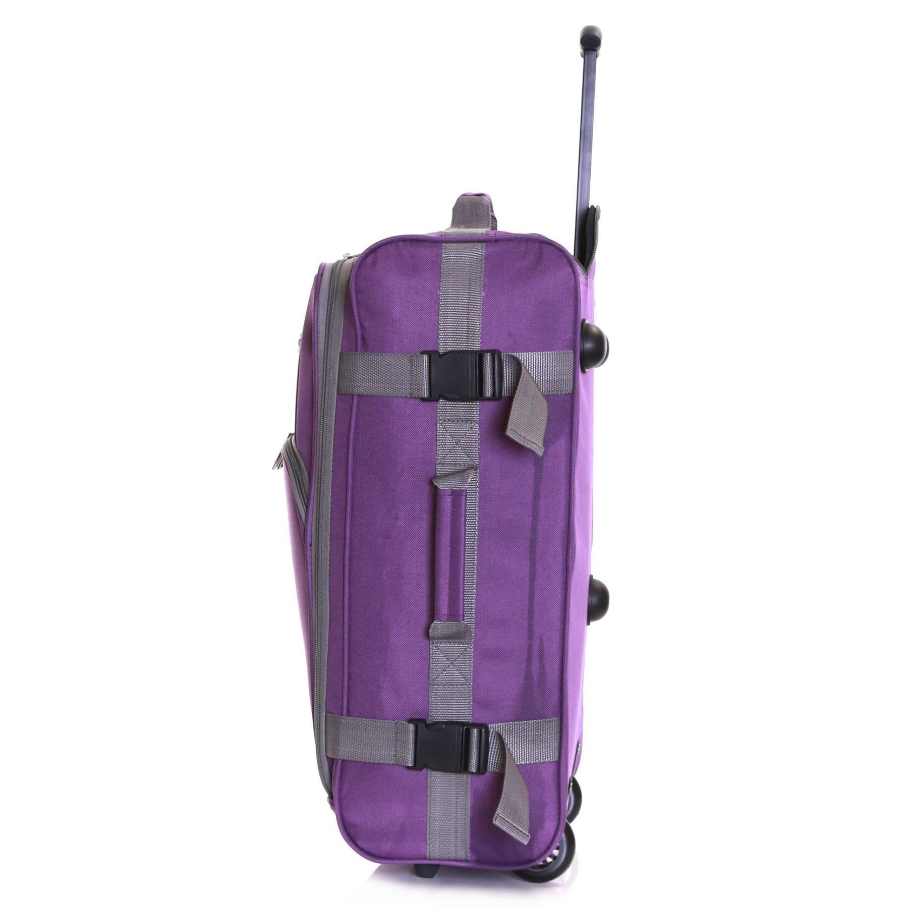 Ryanair-Easyjet-Set-of-2-Cabin-Approved-Hand-Trolley-Suitcases-Luggage-Case-Bags thumbnail 29