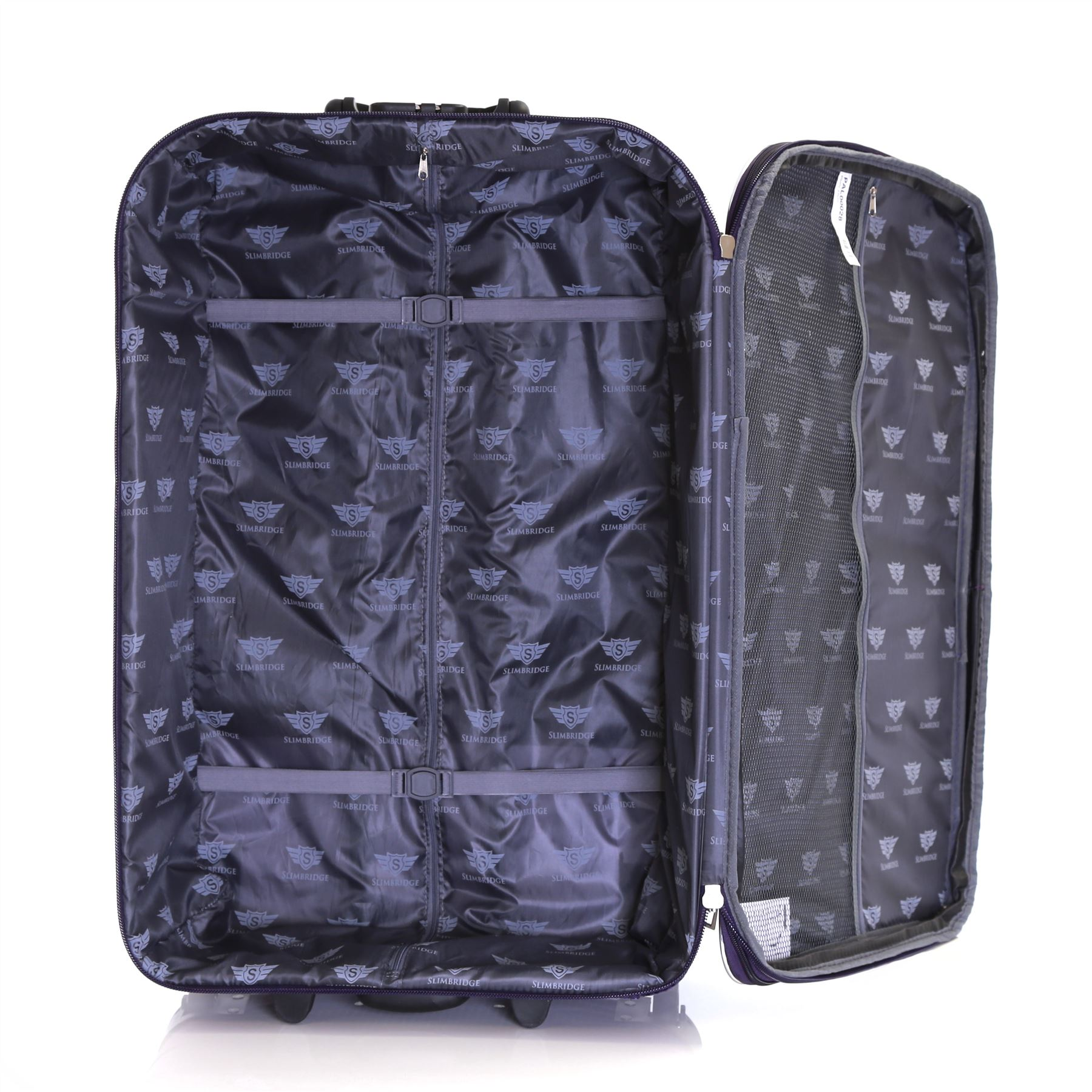 Set-of-2-Lightweight-Expandable-Luggage-Trolleys-Suitcases-Cases-Bags-Set thumbnail 17