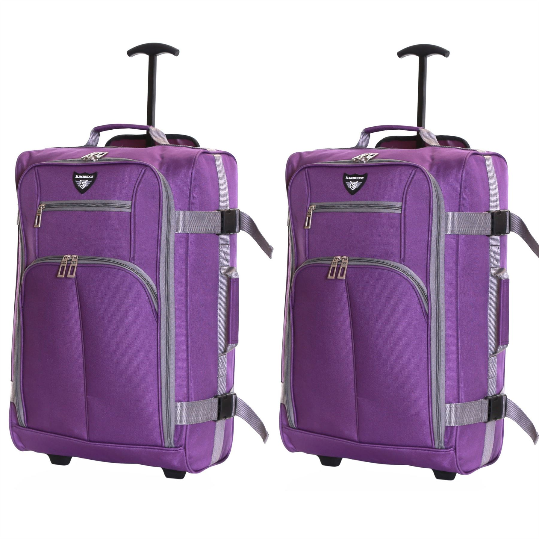 Ryanair-Easyjet-Set-of-2-Cabin-Approved-Hand-Trolley-Suitcases-Luggage-Case-Bags thumbnail 20