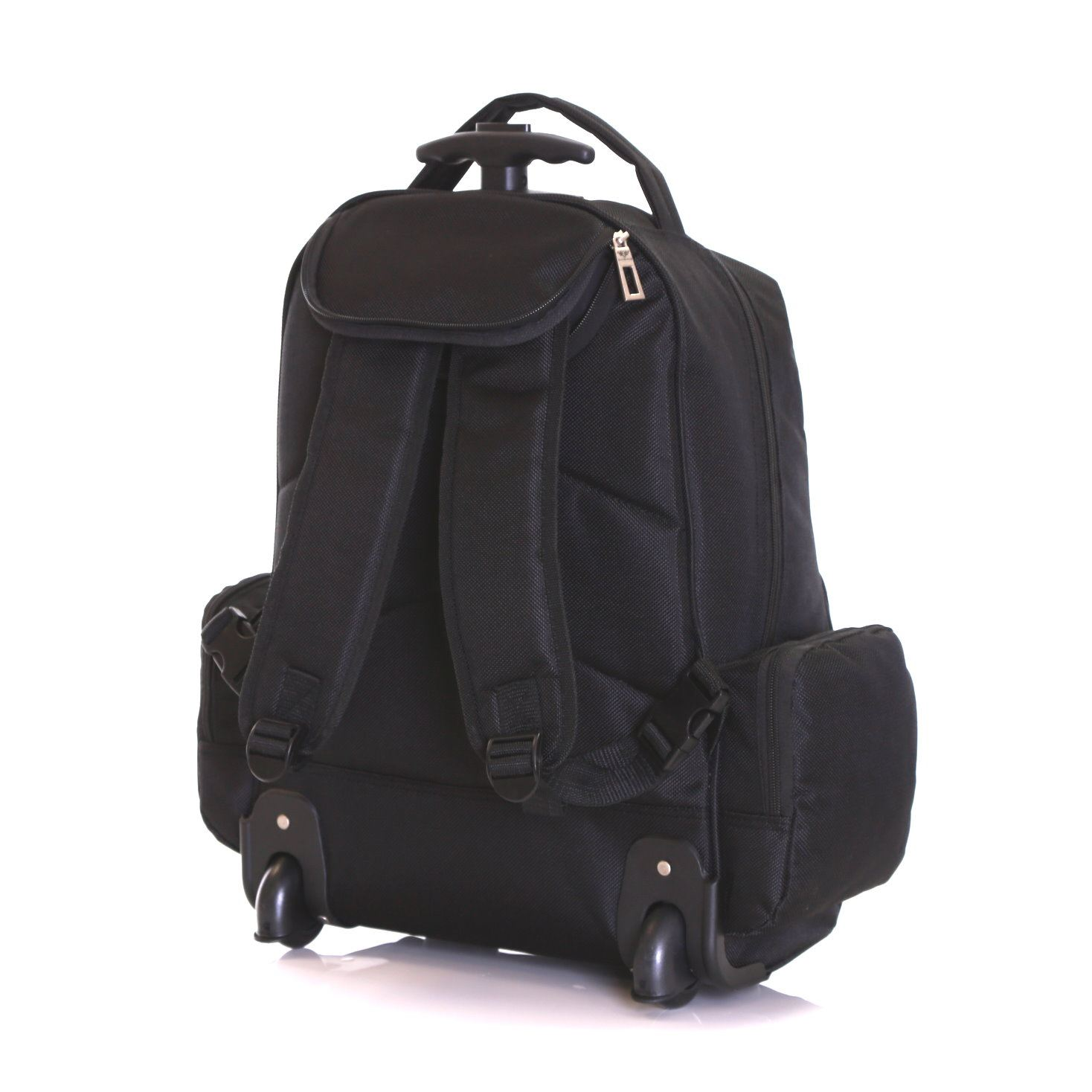 Wheeled cabin laptop computer suitcase trolley hand for Cabin bag backpack