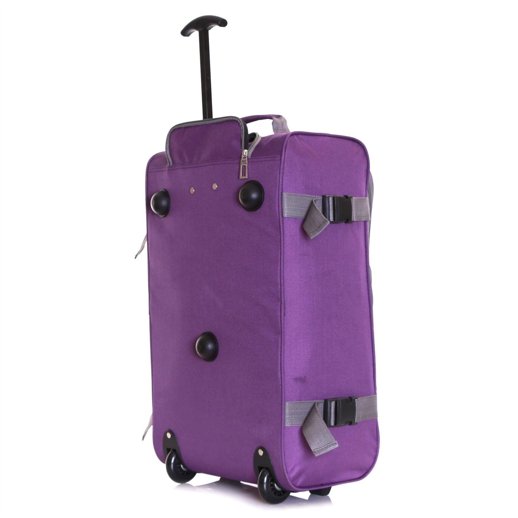Ryanair-Easyjet-Set-of-2-Cabin-Approved-Hand-Trolley-Suitcases-Luggage-Case-Bags thumbnail 27