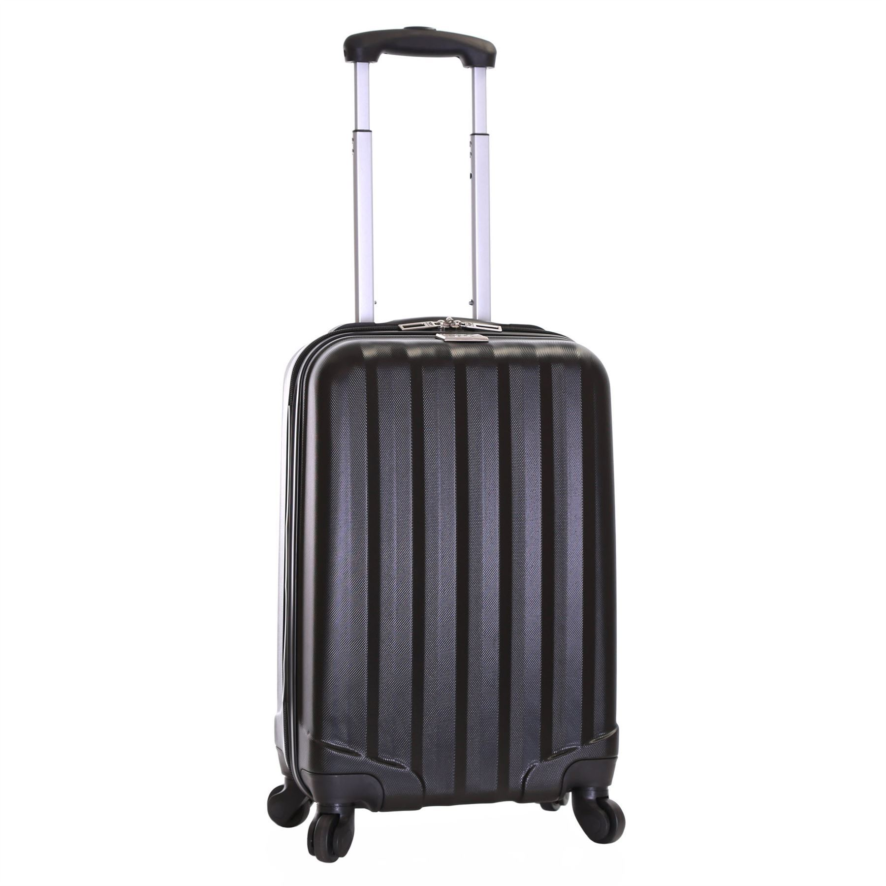 ryanair hard side cabin approved spinner trolley hand luggage suitcase bag case ebay. Black Bedroom Furniture Sets. Home Design Ideas