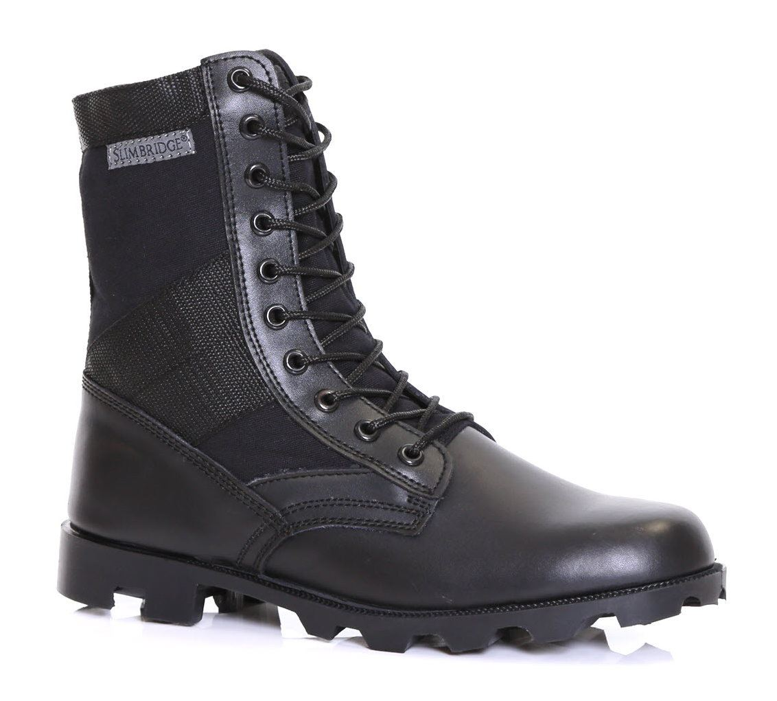Mens Leather Army Combat Military Force Assault Security ...