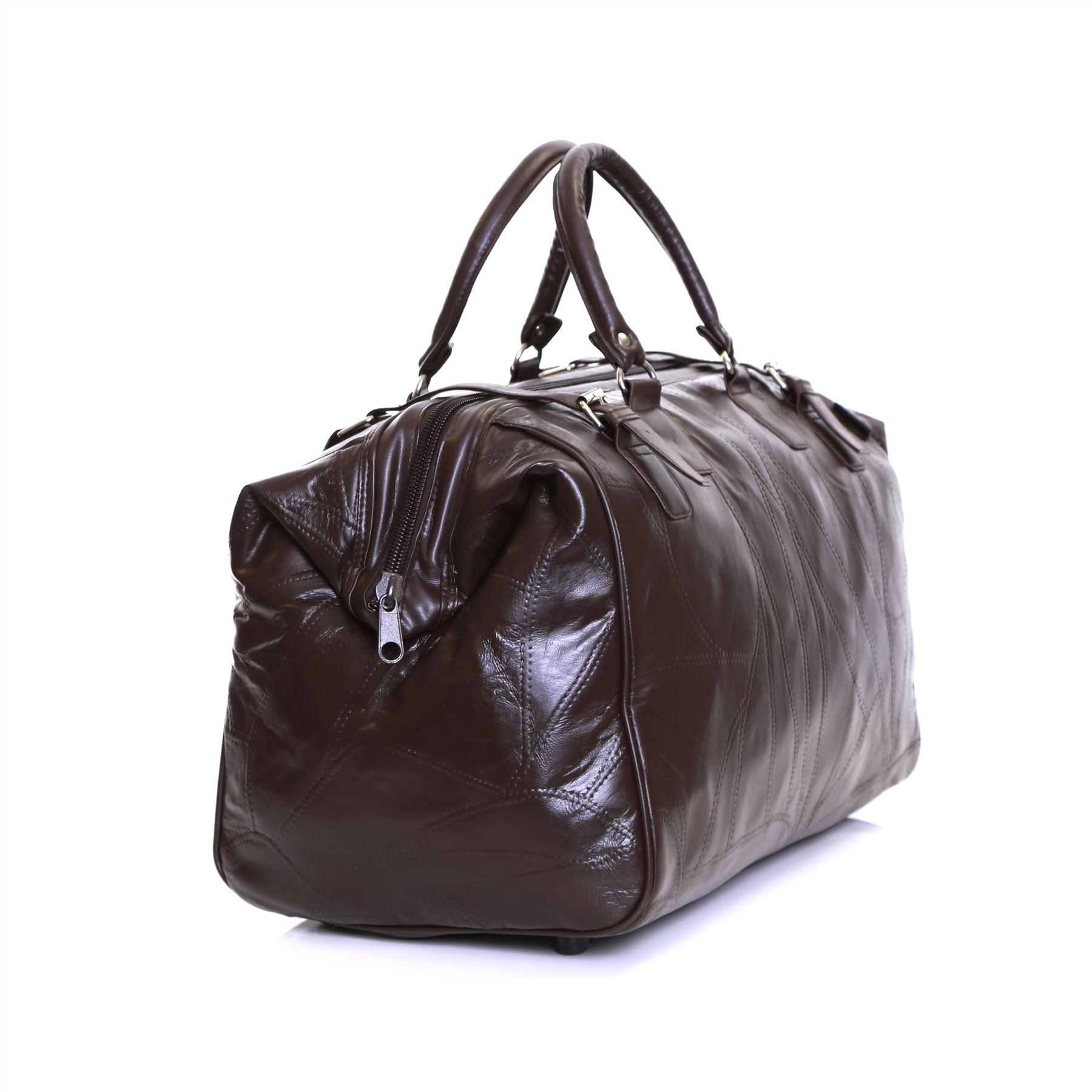 nouveau sac de sport cuir v ritable bagage en cabine. Black Bedroom Furniture Sets. Home Design Ideas