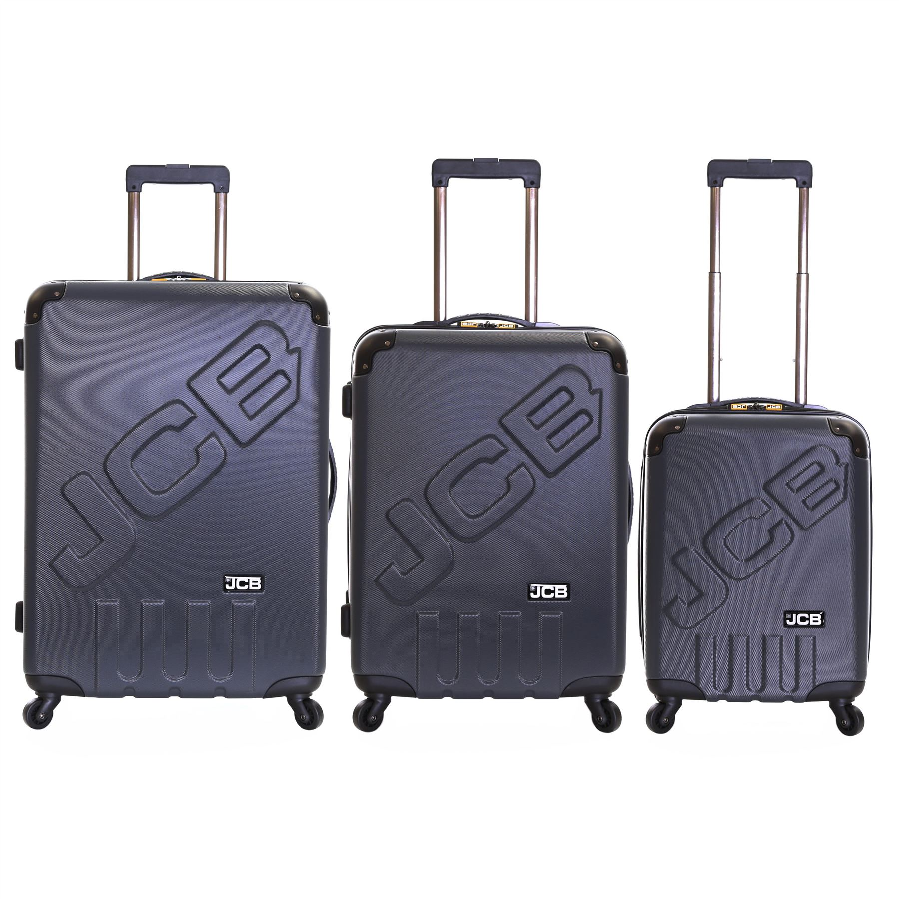 JCB Hard Side ABS Travel 4 Spinner Wheels Trolley Luggage Suitcase ...