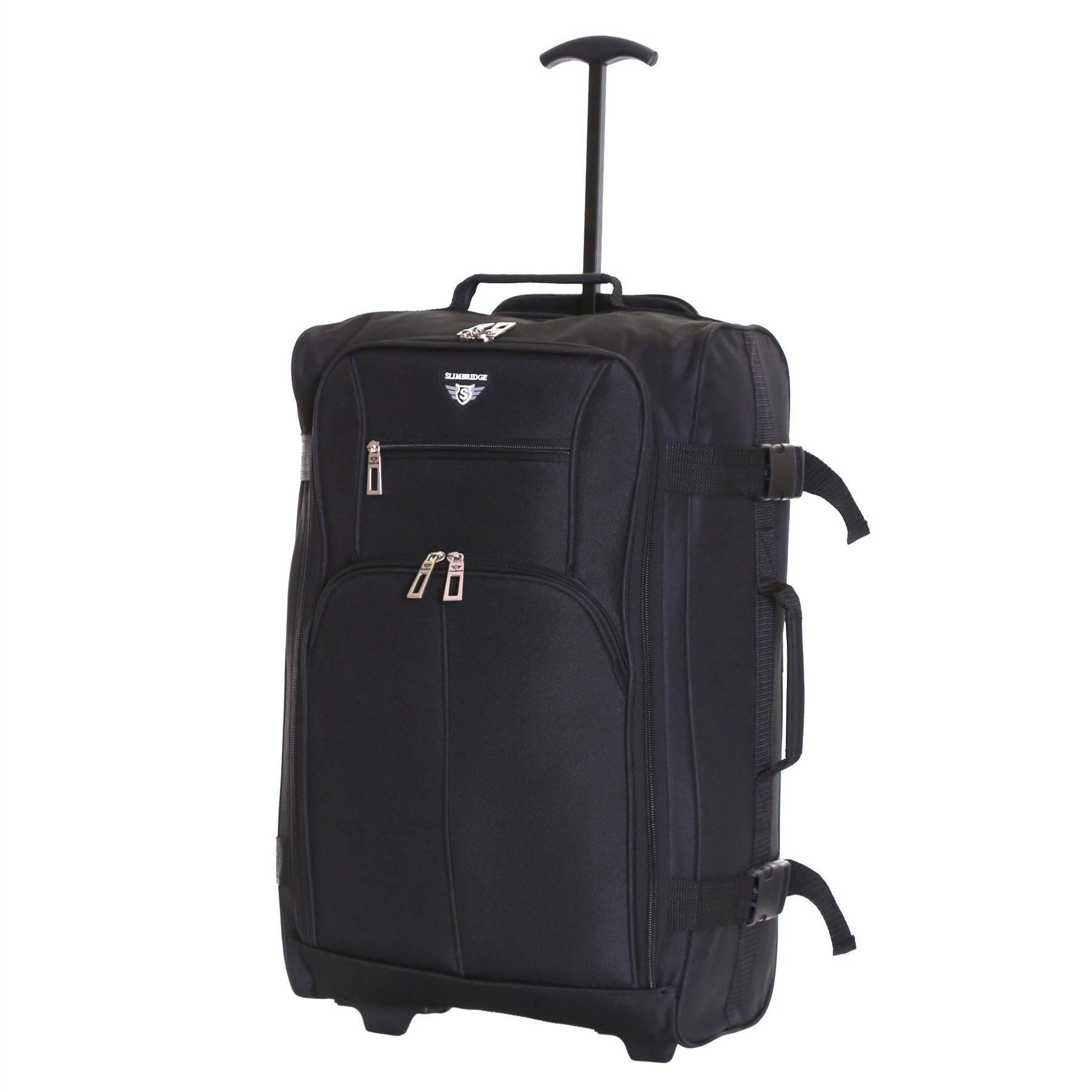 Ryanair-Easyjet-Set-of-2-Cabin-Approved-Hand-Trolley-Suitcases-Luggage-Case-Bags thumbnail 14