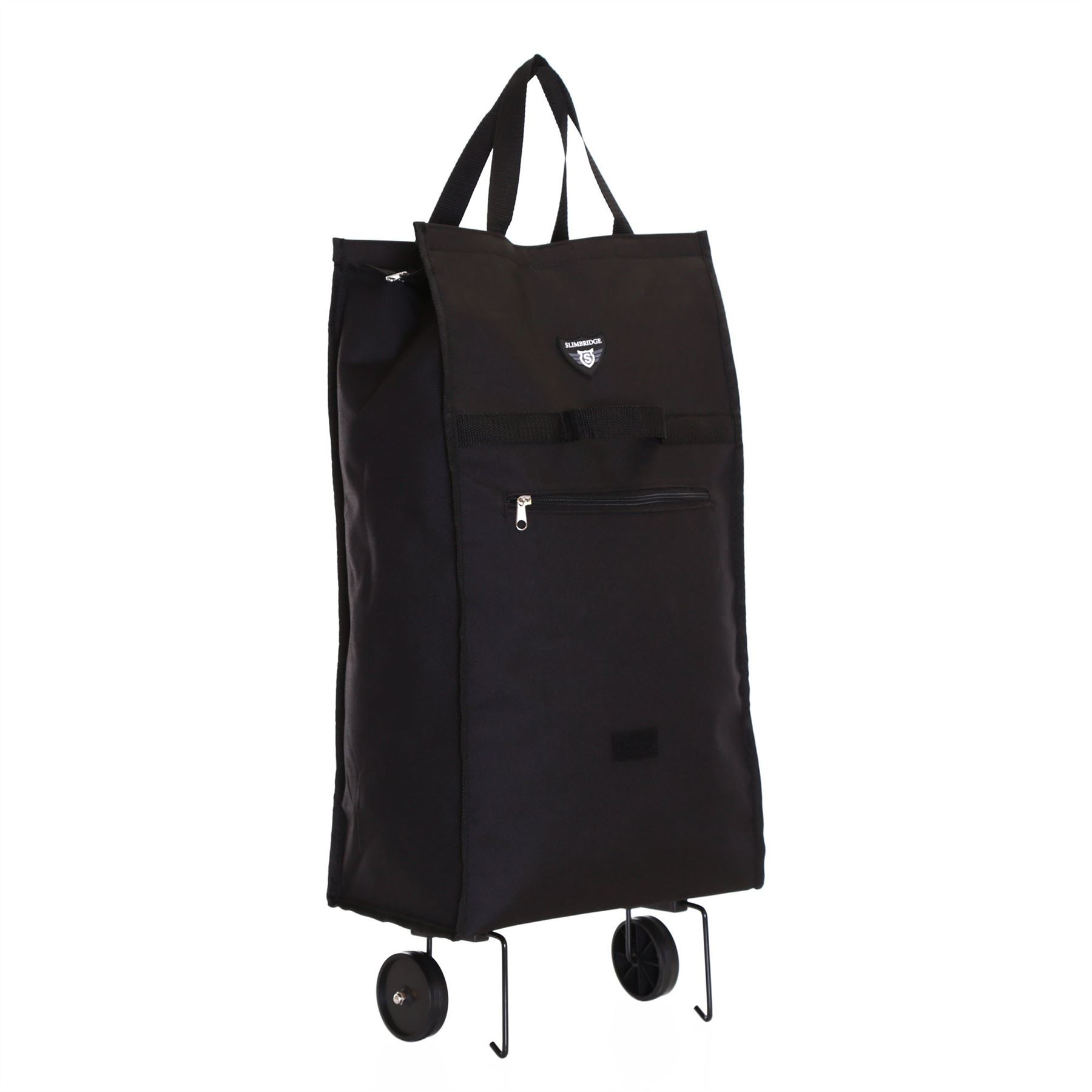 foldable folding wheeled wheels shopping shopper luggage travel trolley bag ebay. Black Bedroom Furniture Sets. Home Design Ideas