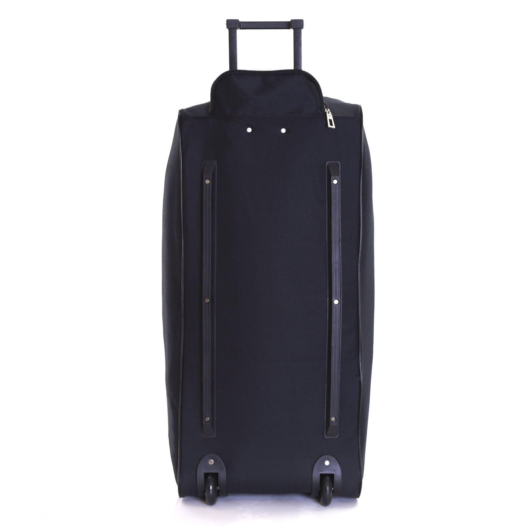 extra large xl wheeled travel luggage trolley holdall suitcase case bag wheels ebay. Black Bedroom Furniture Sets. Home Design Ideas