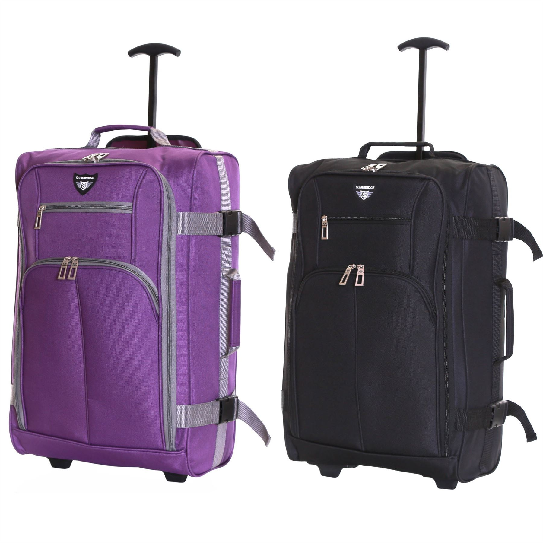 Ryanair-Easyjet-Set-of-2-Cabin-Approved-Hand-Trolley-Suitcases-Luggage-Case-Bags thumbnail 6
