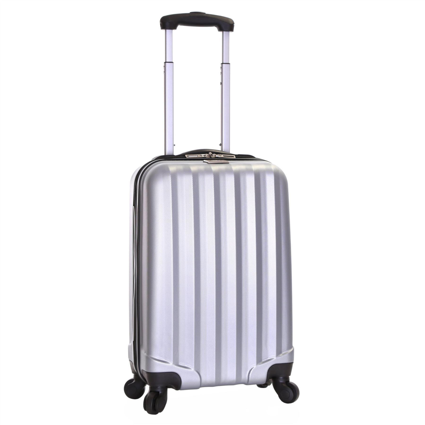 ryanair hard side cabin approved spinner trolley hand luggage suitcase bag case ebay. Black Bedroom Furniture Sets. Home Design Ideas