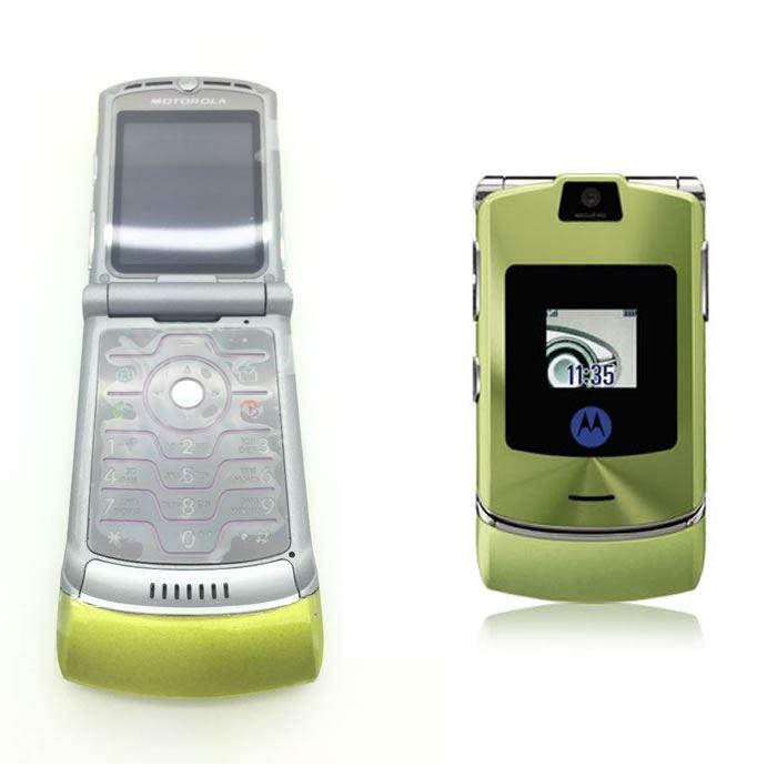 motorola razr v3 unlocked flip mobile phone new boxed 10